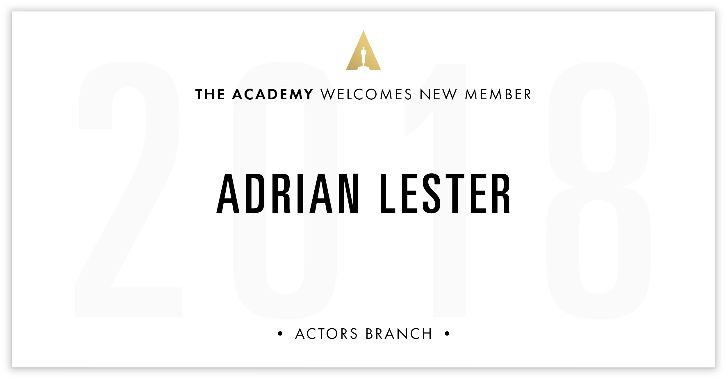 Adrian Lester is invited!