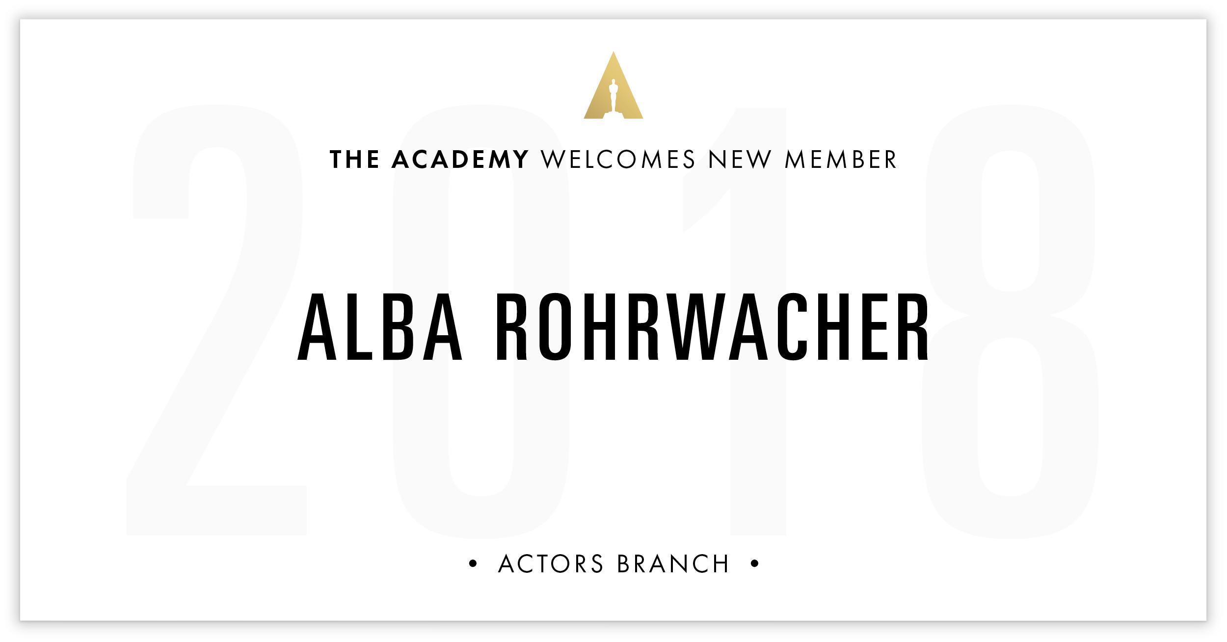 Alba Rohrwacher is invited!