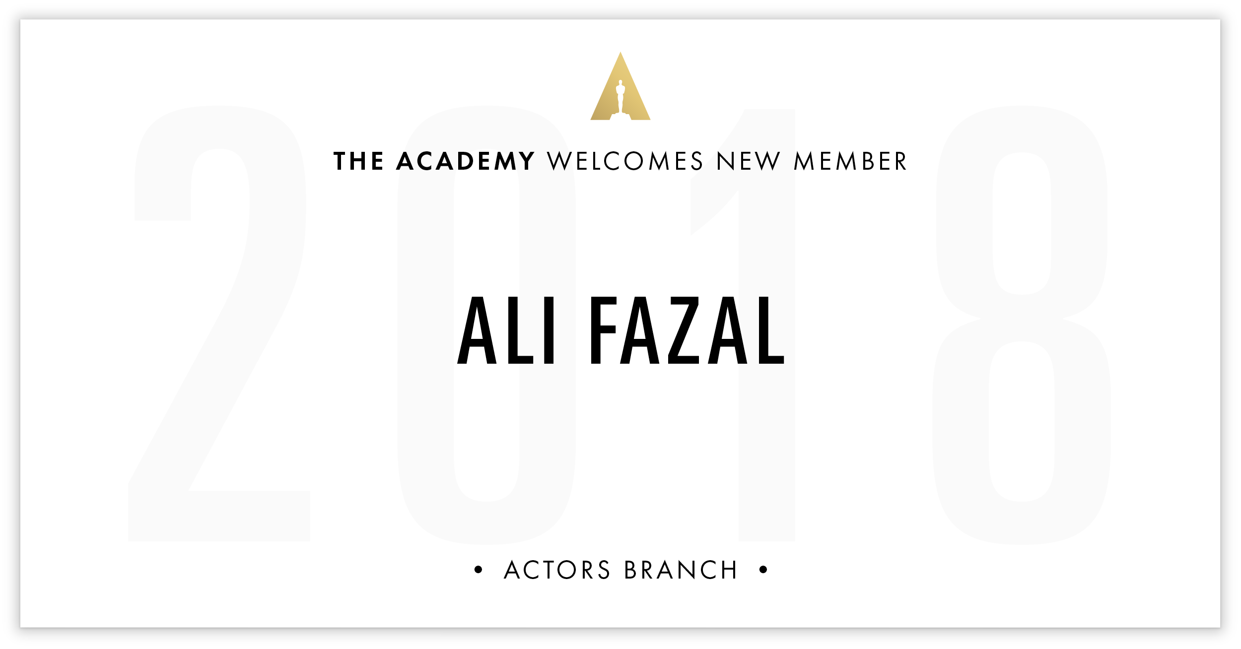 Ali Fazal is invited!