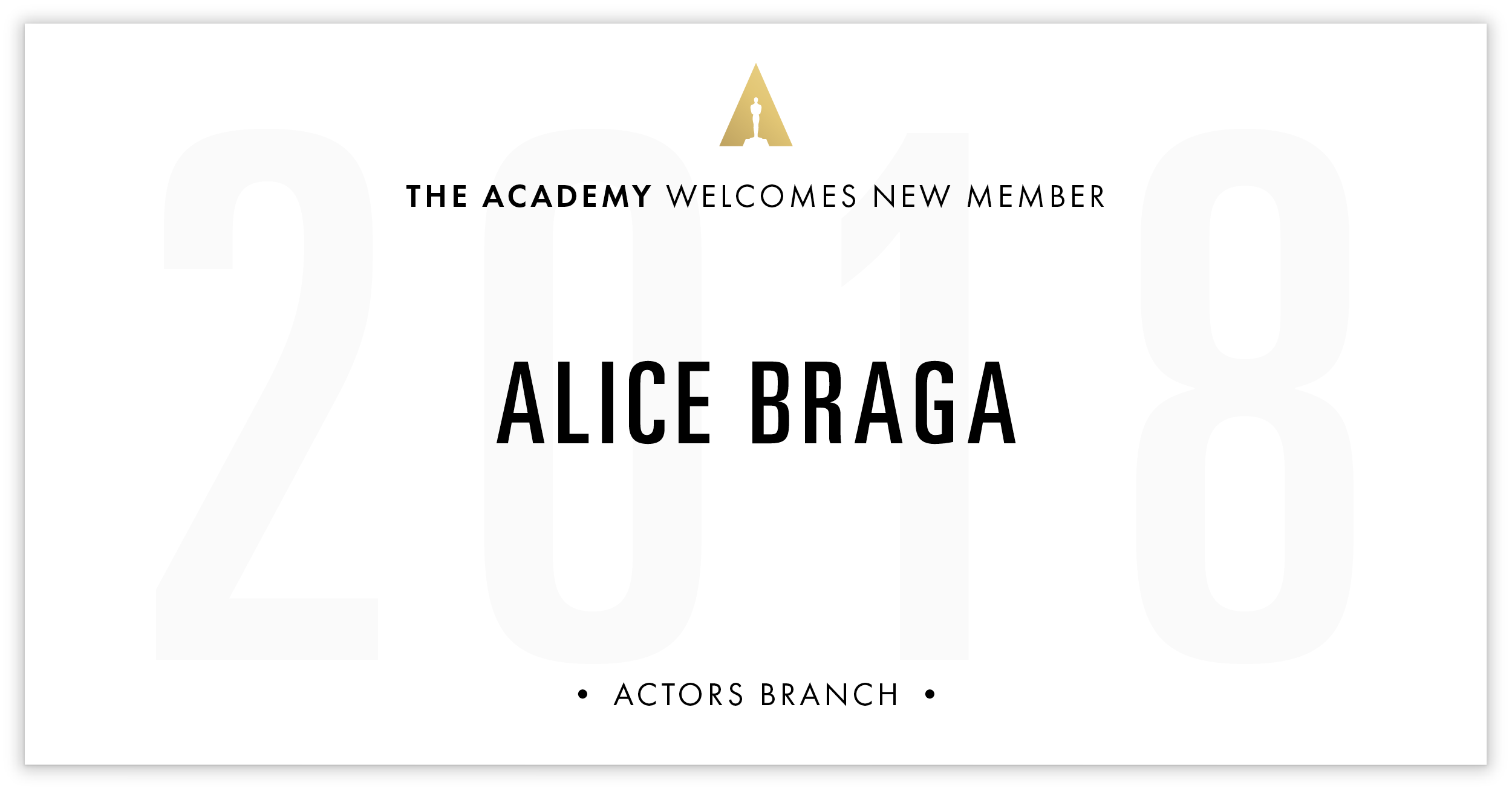 Alice Braga is invited!
