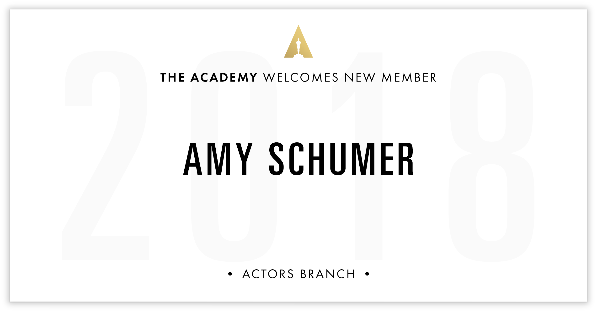 Amy Schumer is invited!