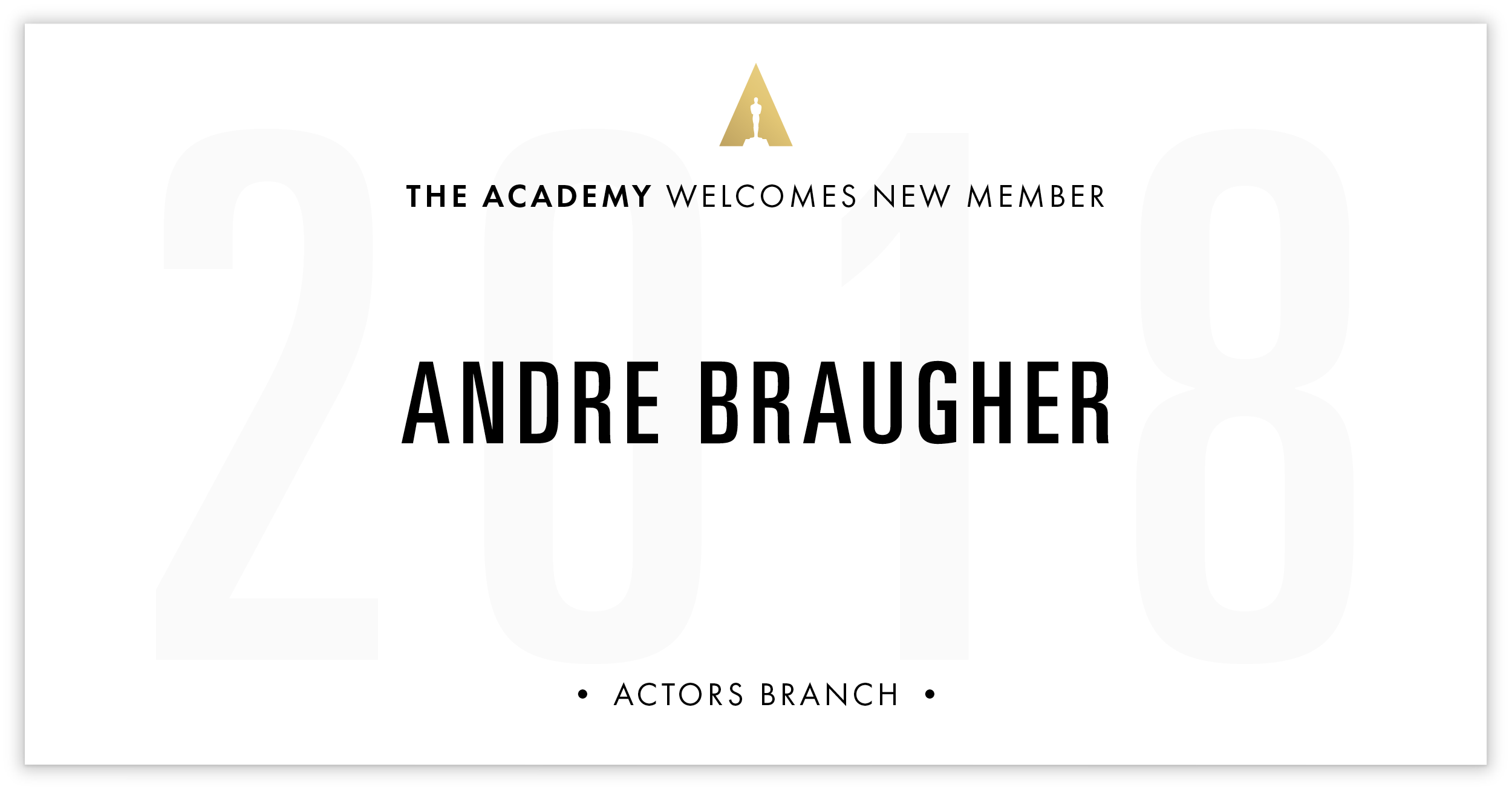 Andre Braugher is invited!