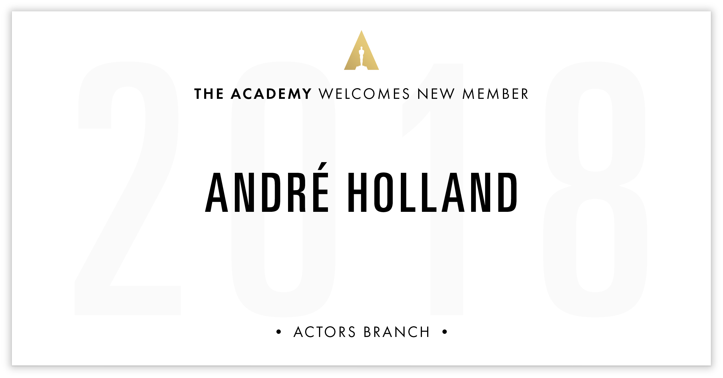André Holland is invited!