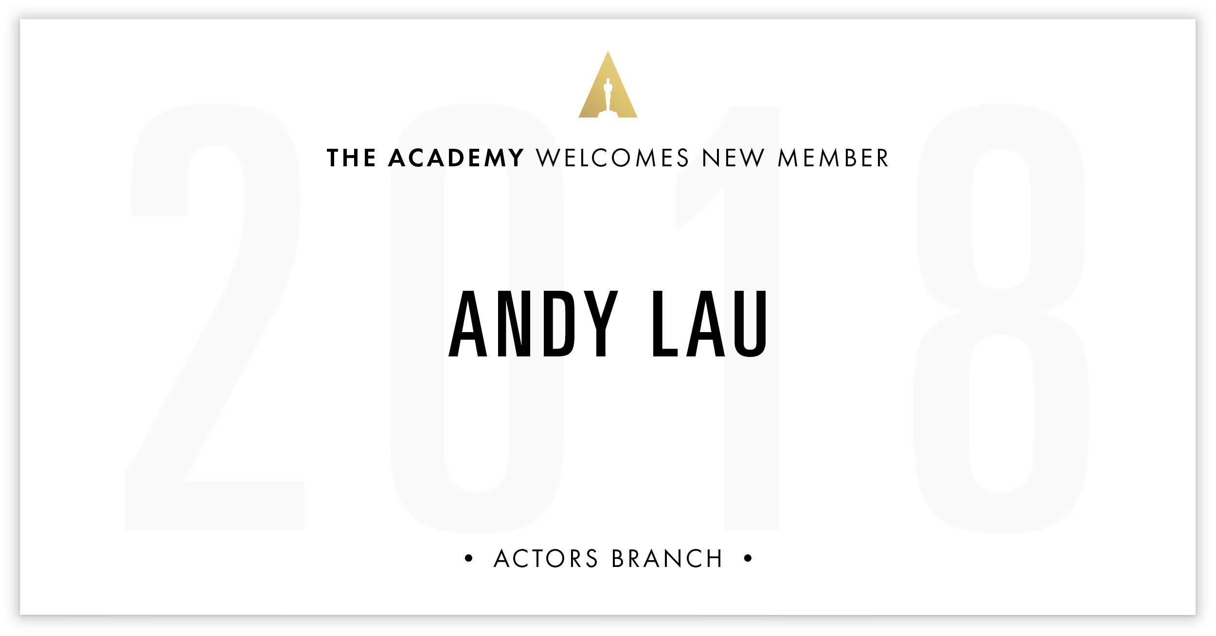 Andy Lau is invited!