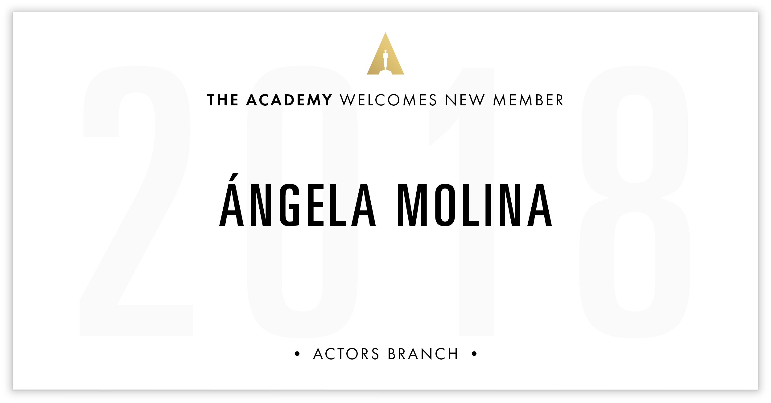 Ángela Molina is invited!