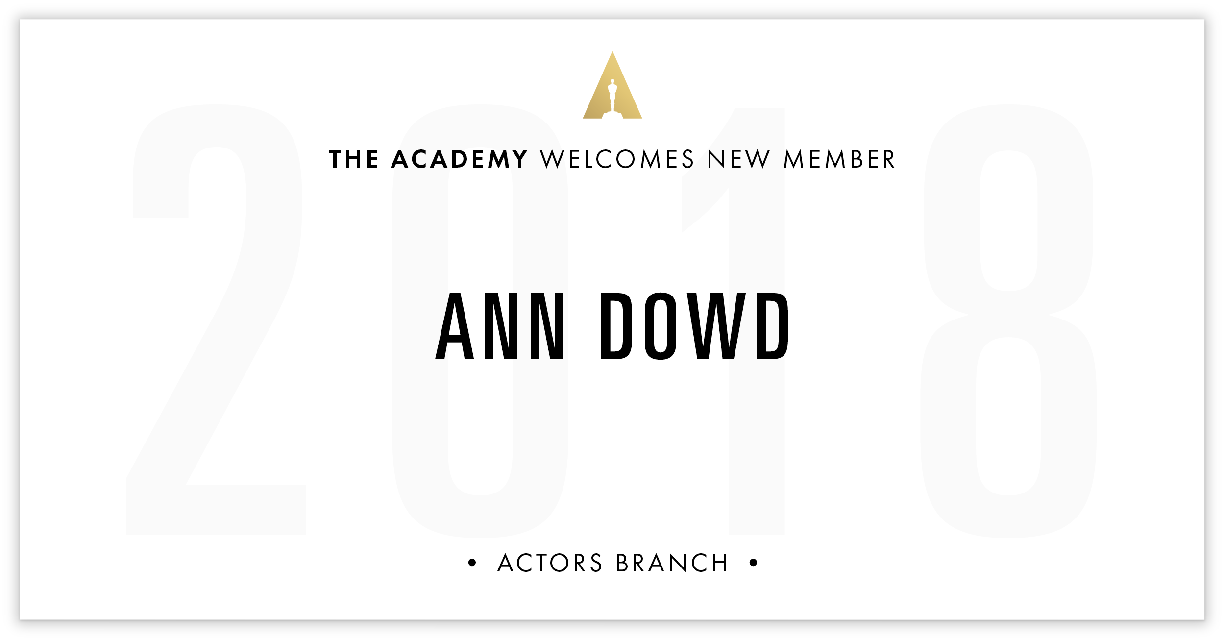 Ann Dowd is invited!