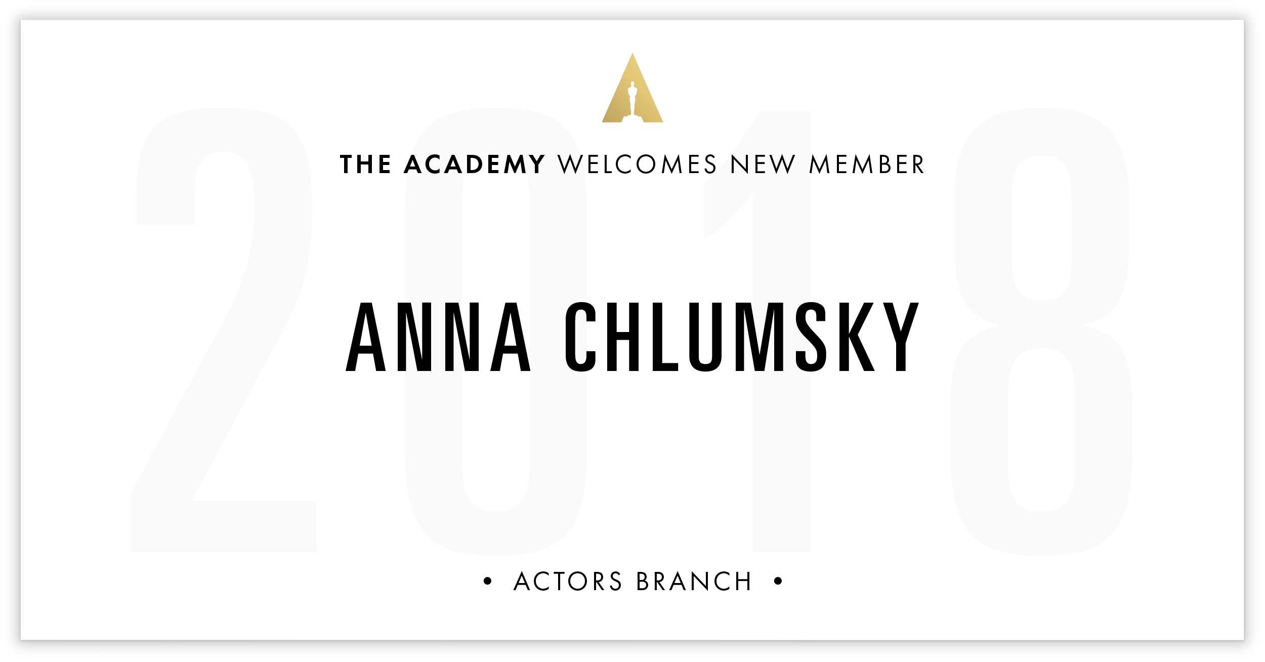 Anna Chlumsky is invited!