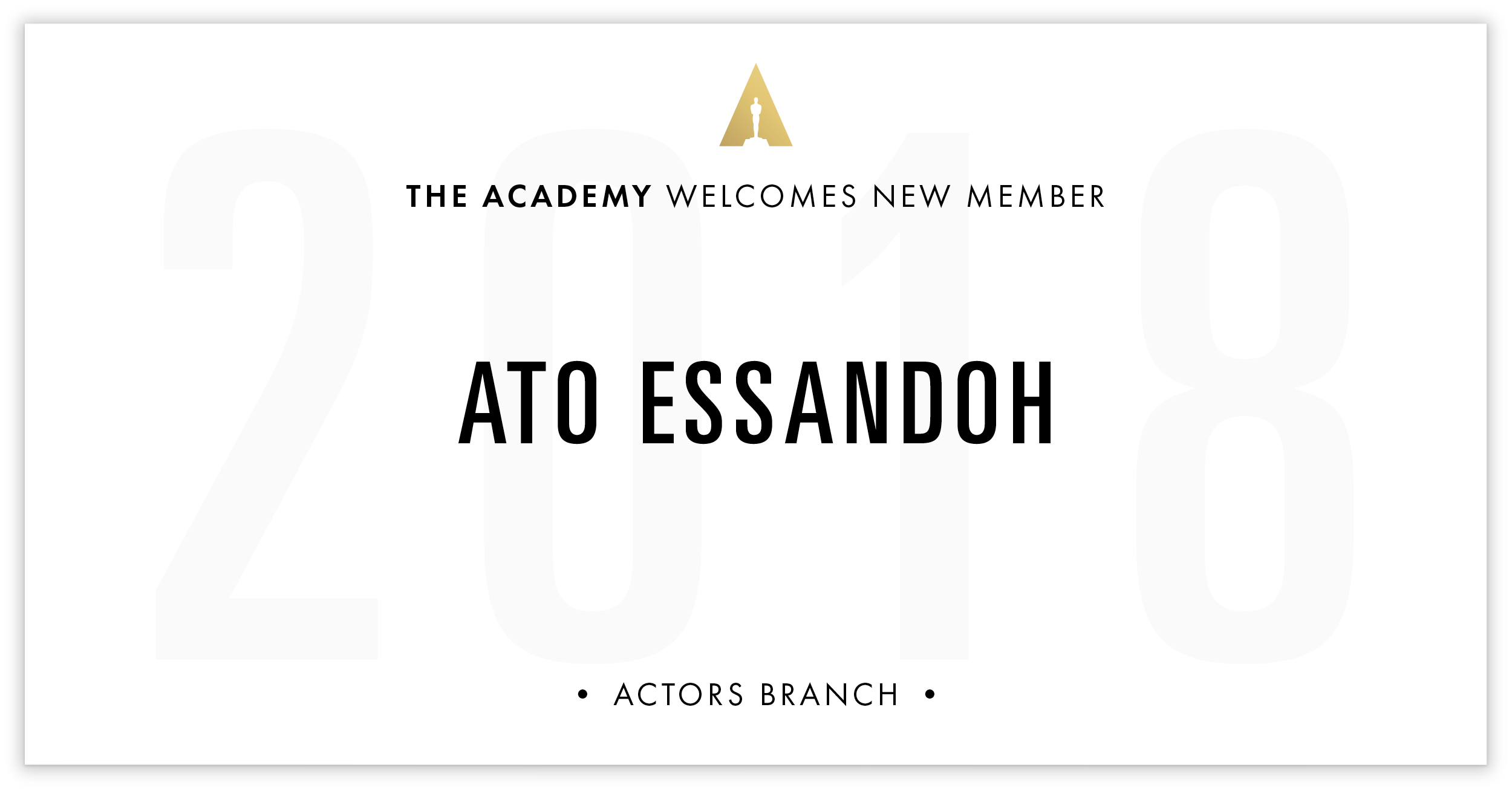 Ato Essandoh is invited!