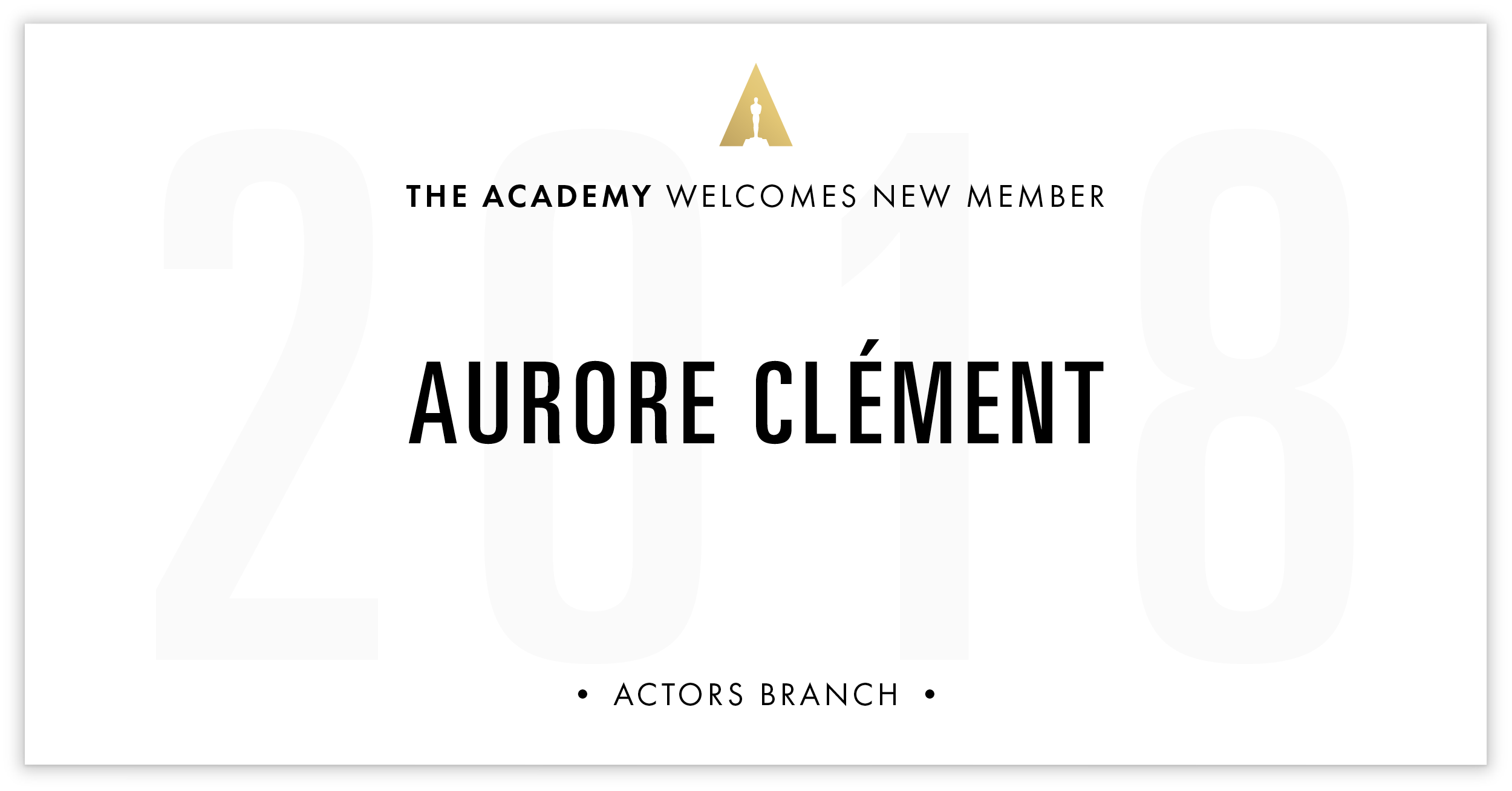 Aurore Clément is invited!
