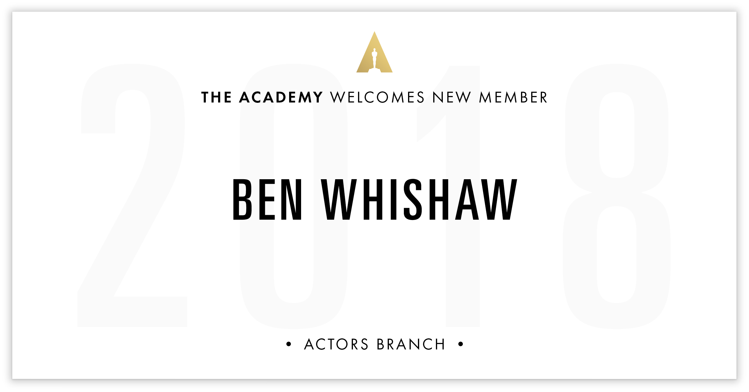 Ben Whishaw is invited!