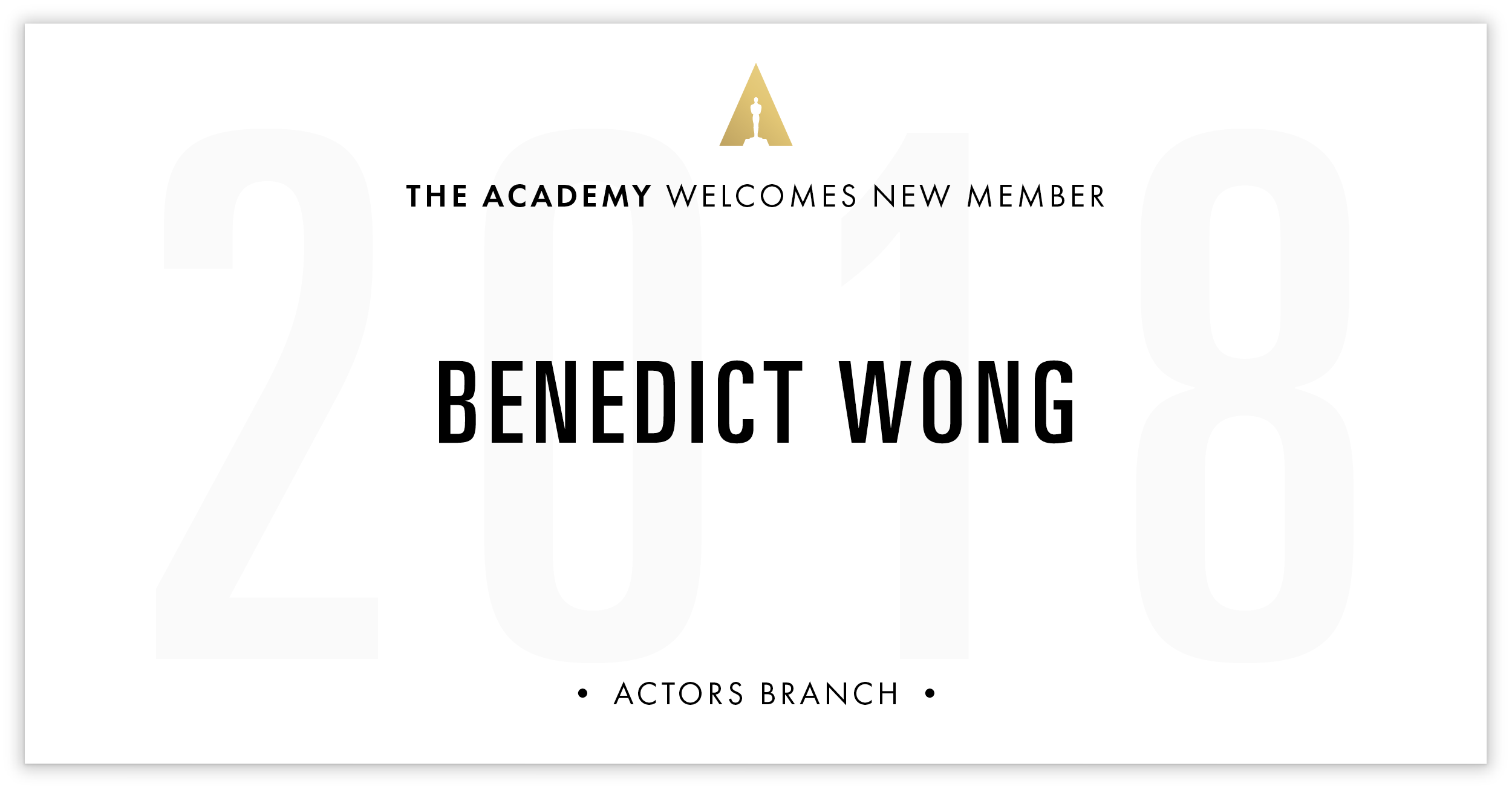 Benedict Wong is invited!