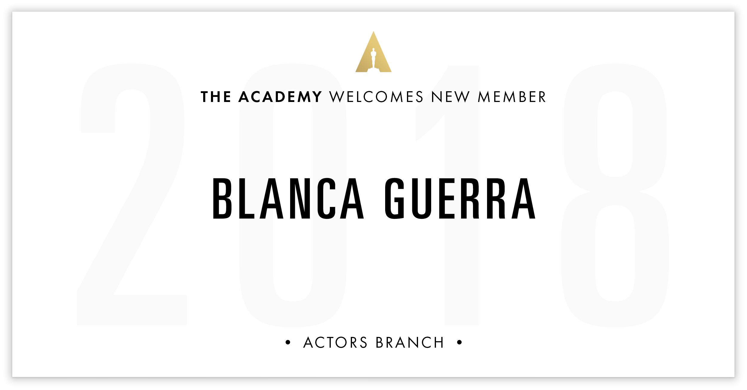 Blanca Guerra is invited!