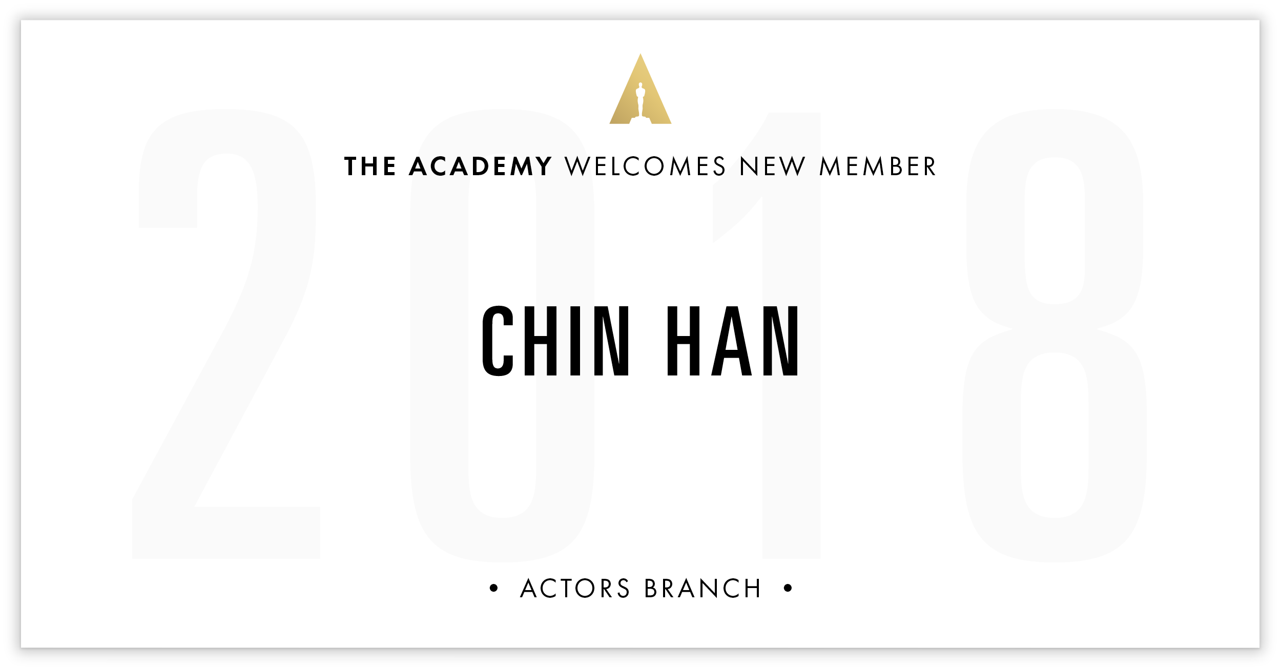 Chin Han is invited!