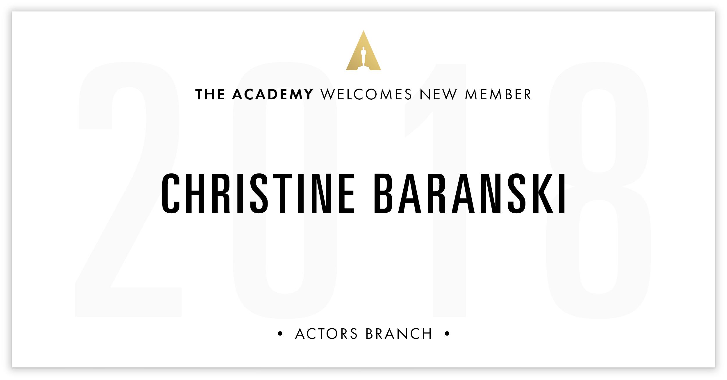 Christine Baranski is invited!
