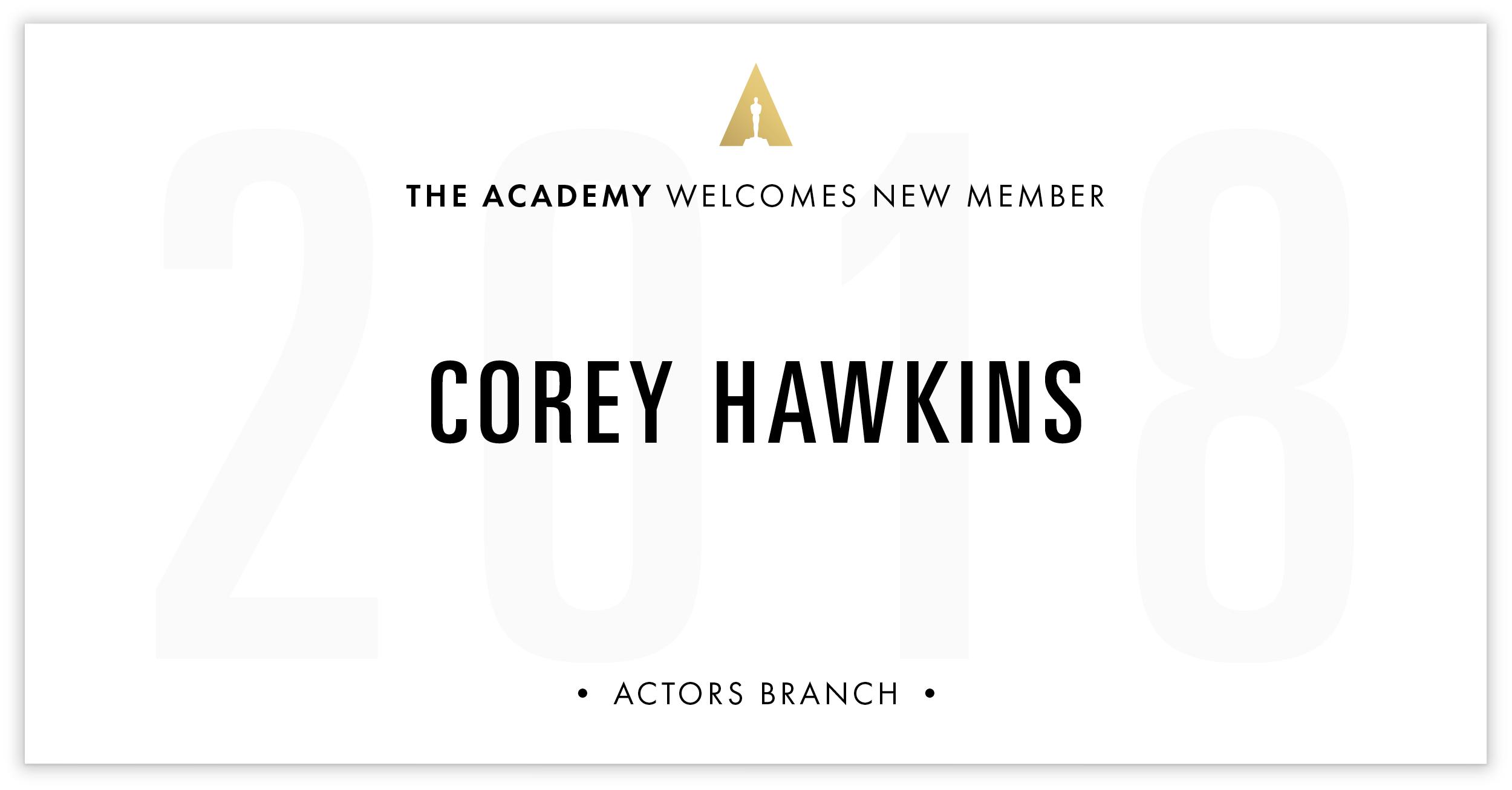Corey Hawkins is invited!