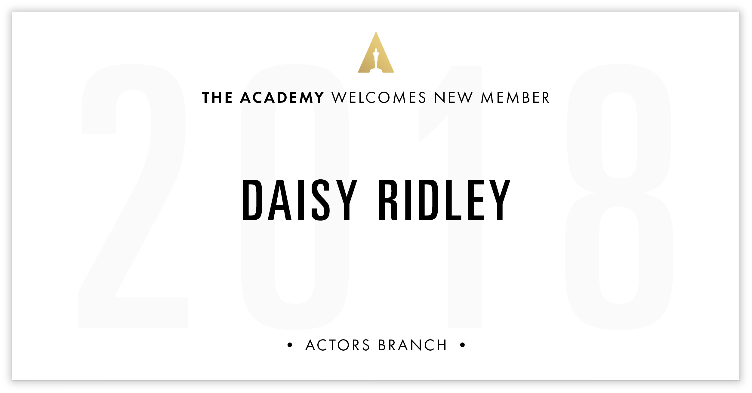 Daisy Ridley is invited!