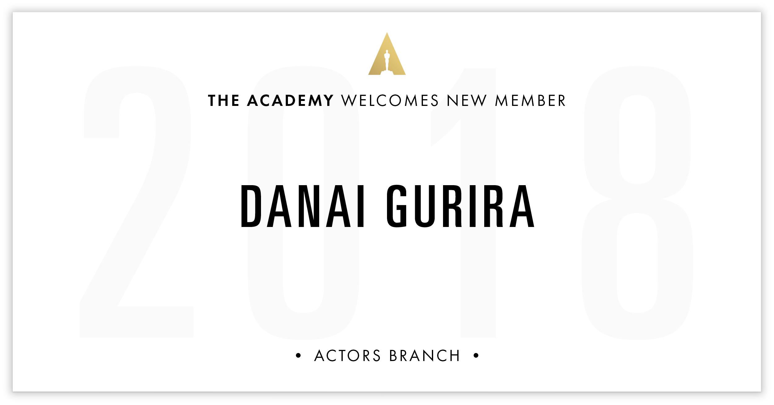 Danai Gurira is invited!