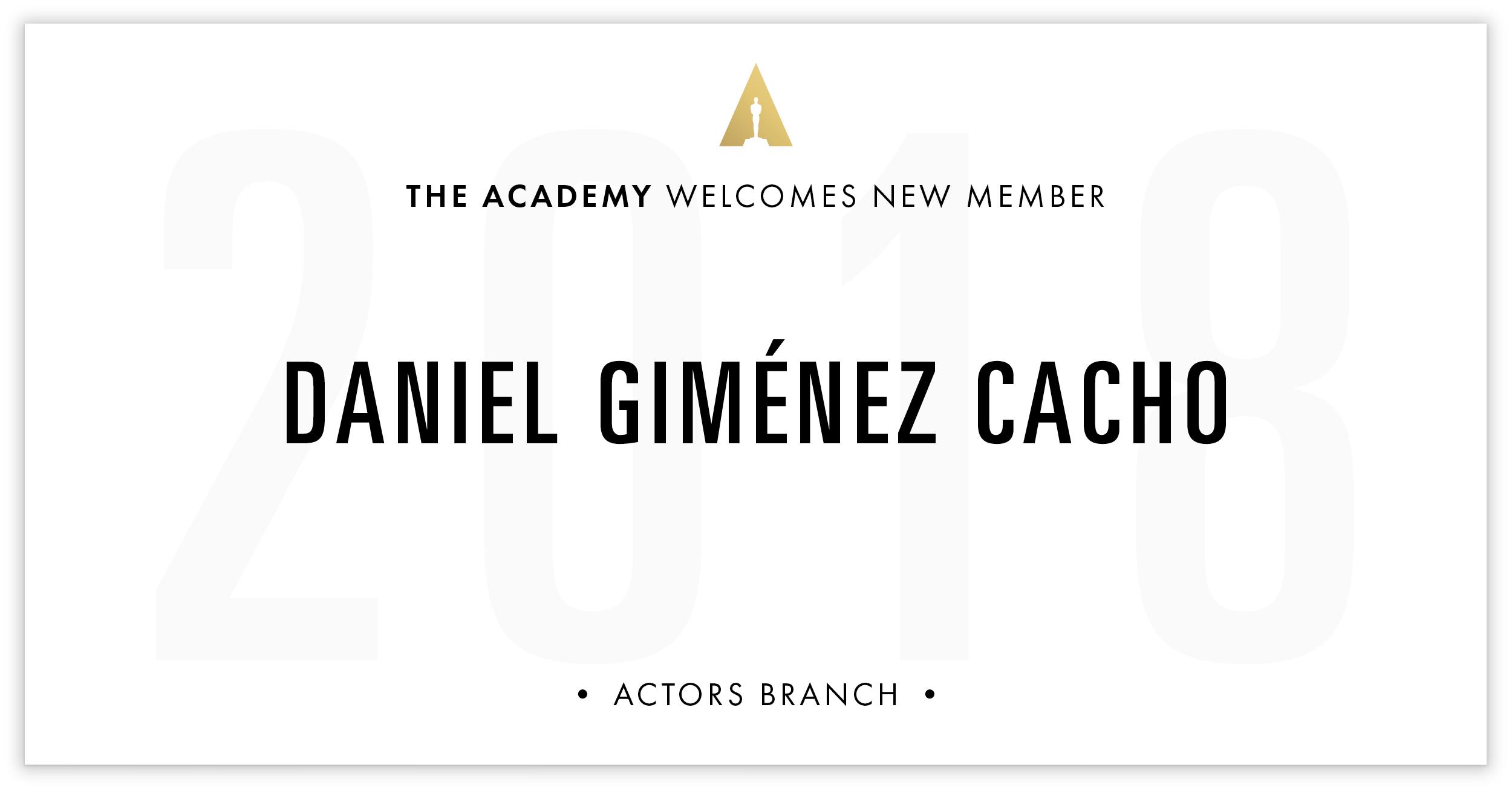 Daniel Giménez Cacho is invited!