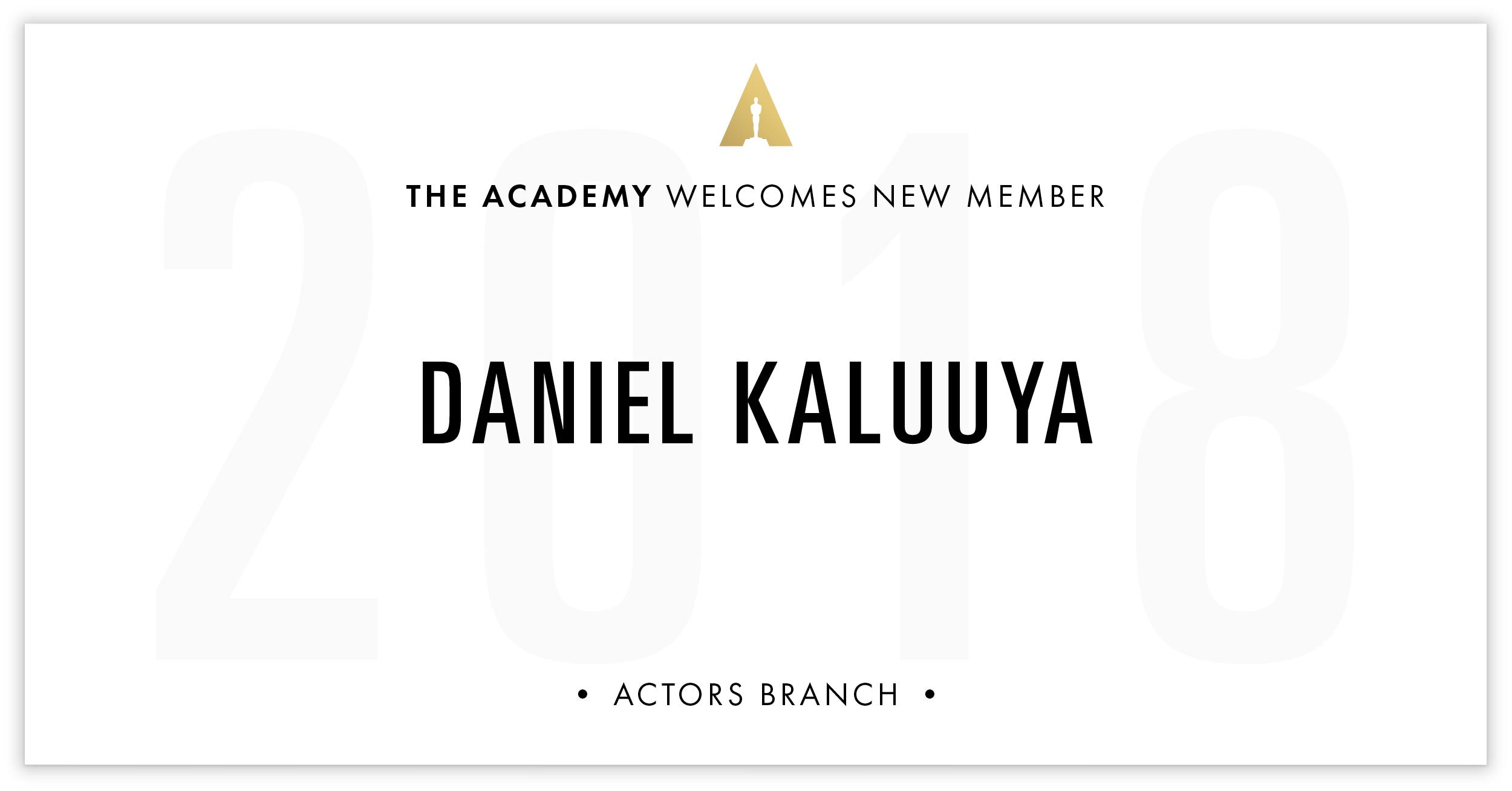 Daniel Kaluuya is invited!