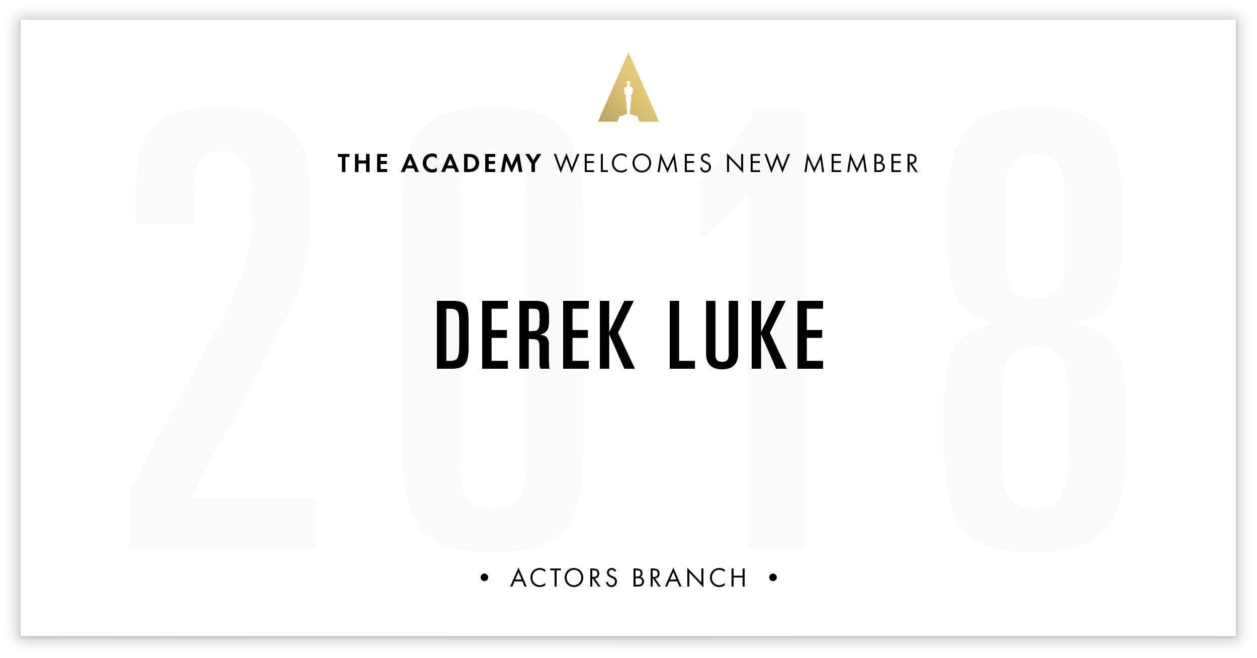 Derek Luke is invited!