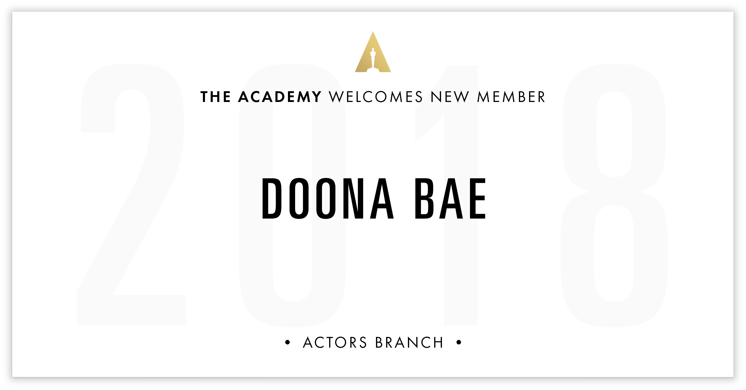 Doona Bae is invited!