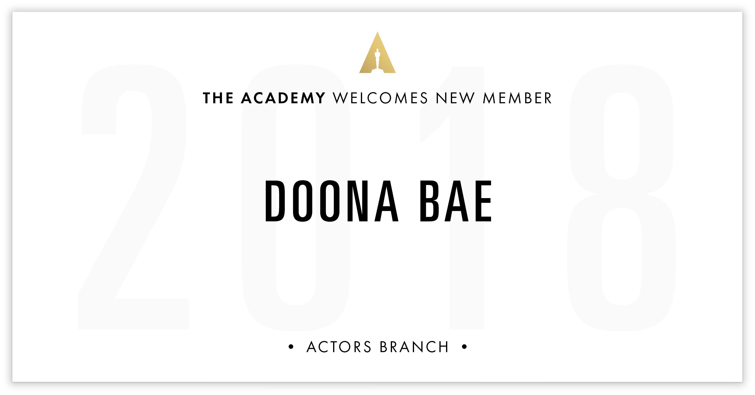 Doona Bae is invited!