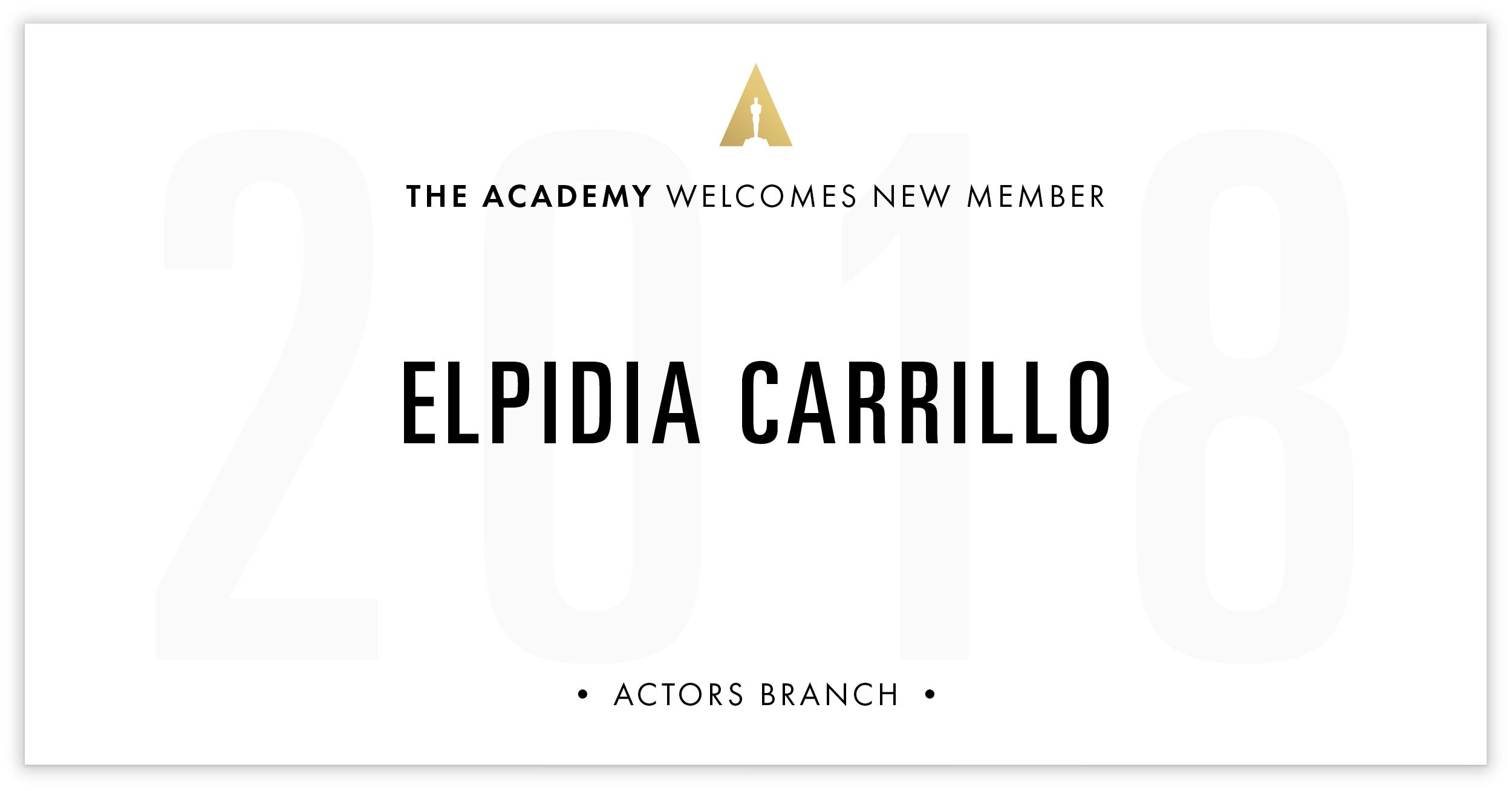 Elpidia Carrillo is invited!