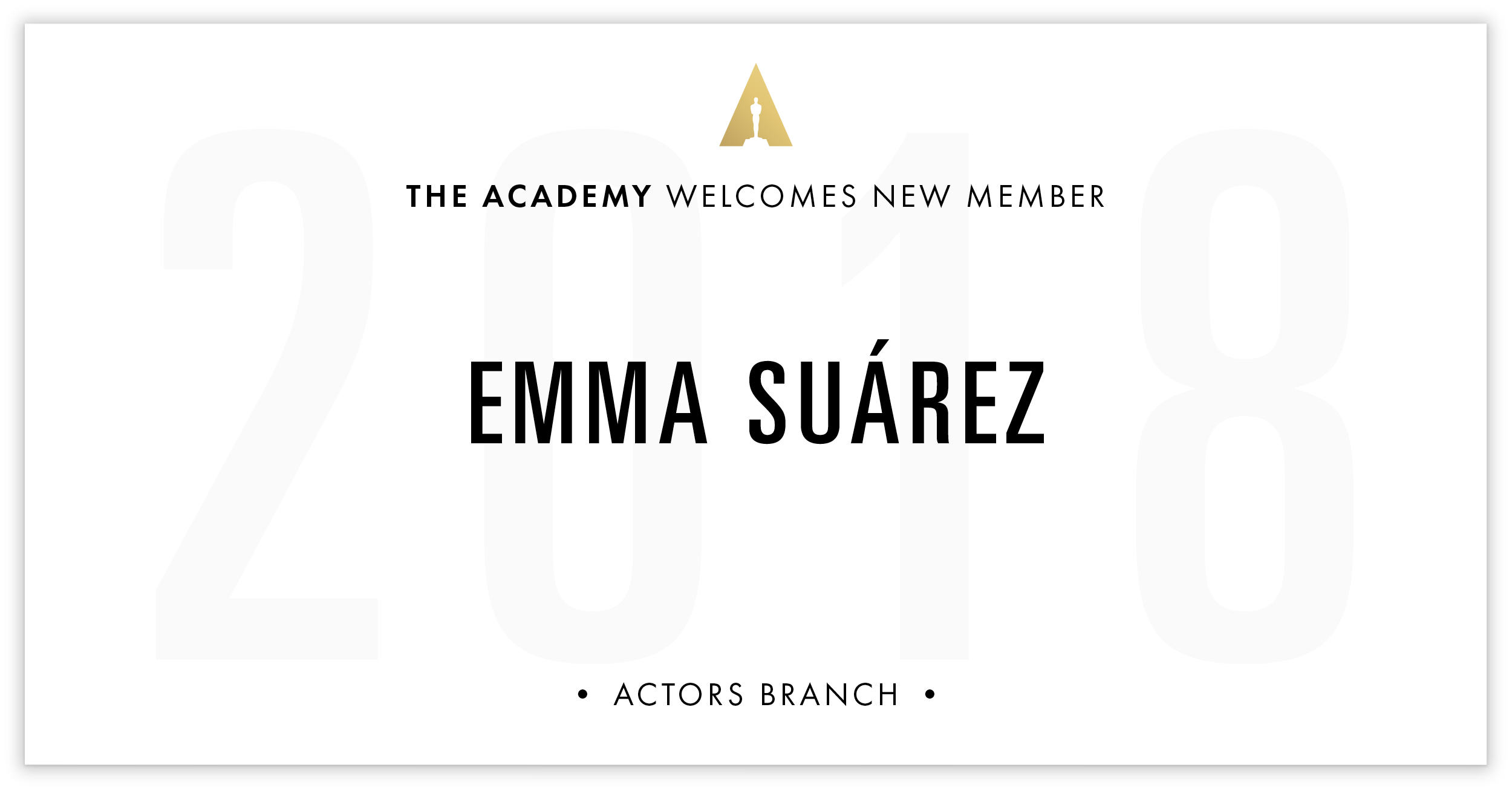 Emma Suárez is invited!
