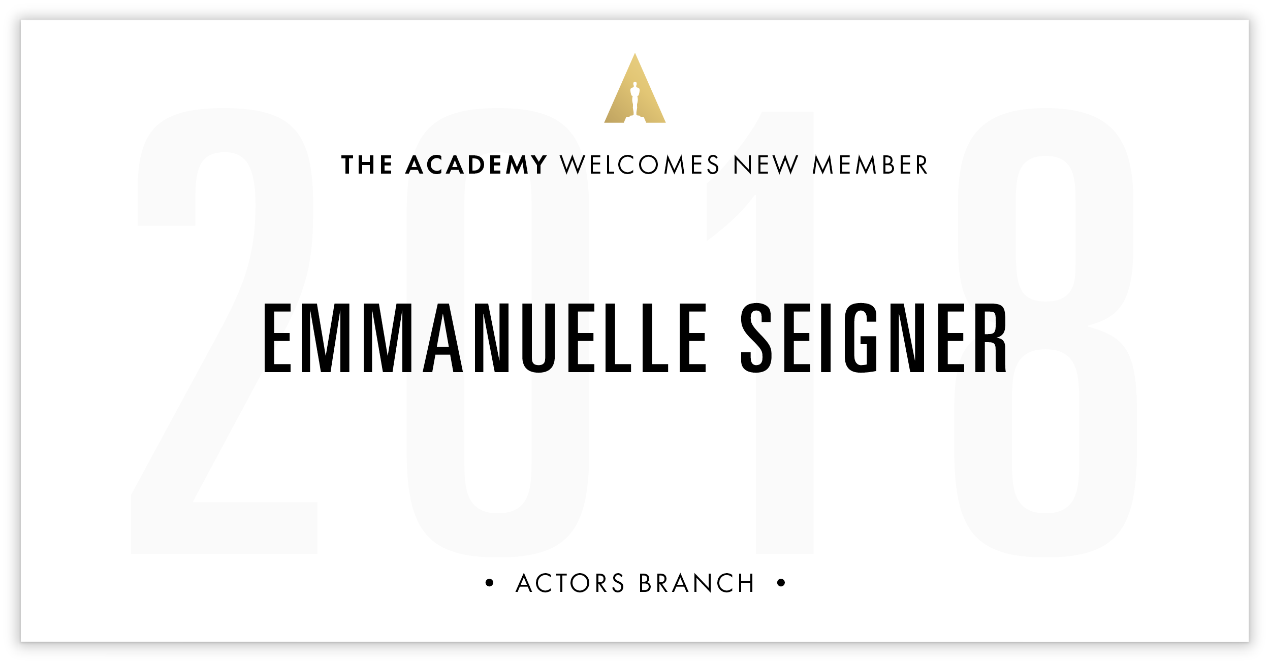 Emmanuelle Seigner is invited!