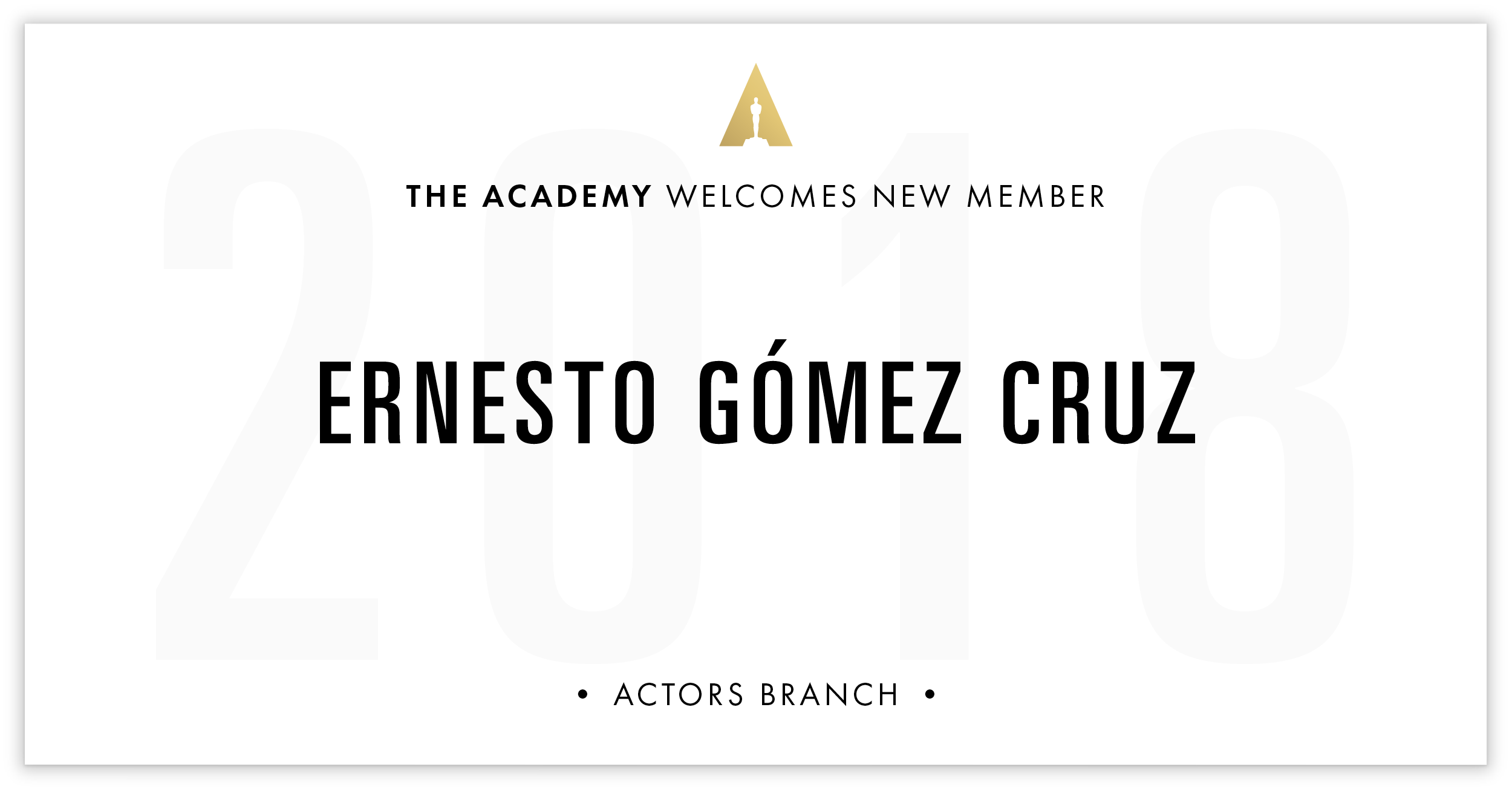 Ernesto Gómez Cruz is invited!