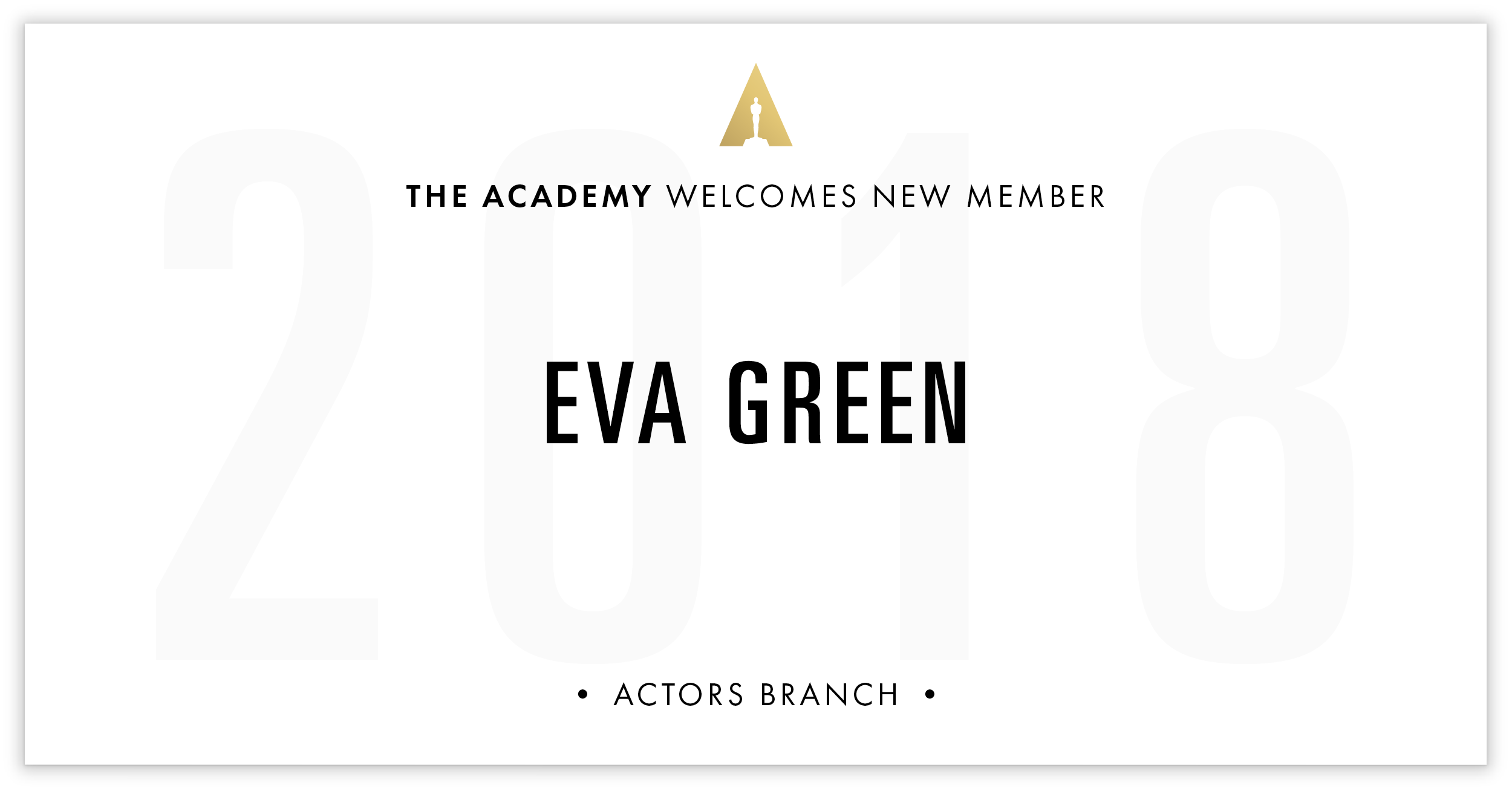 Eva Green is invited!
