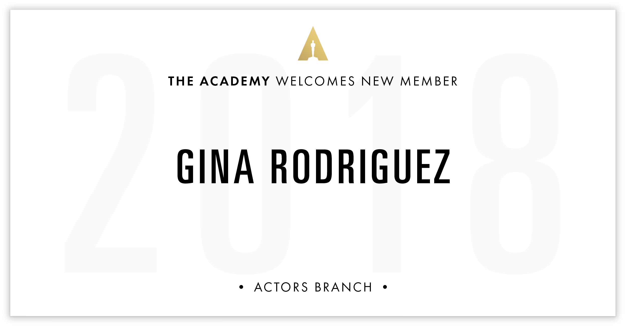Gina Rodriguez is invited!