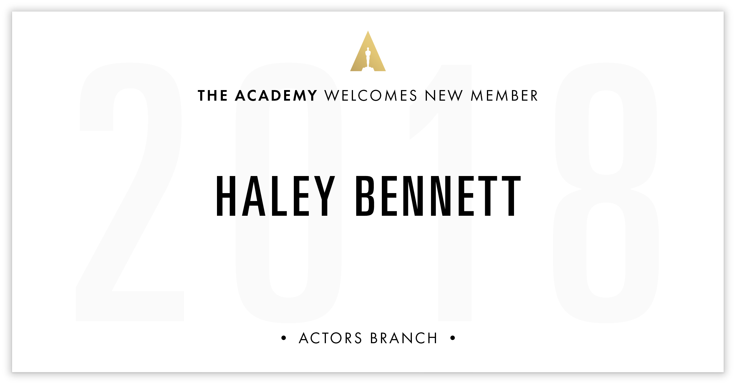 Haley Bennett is invited!