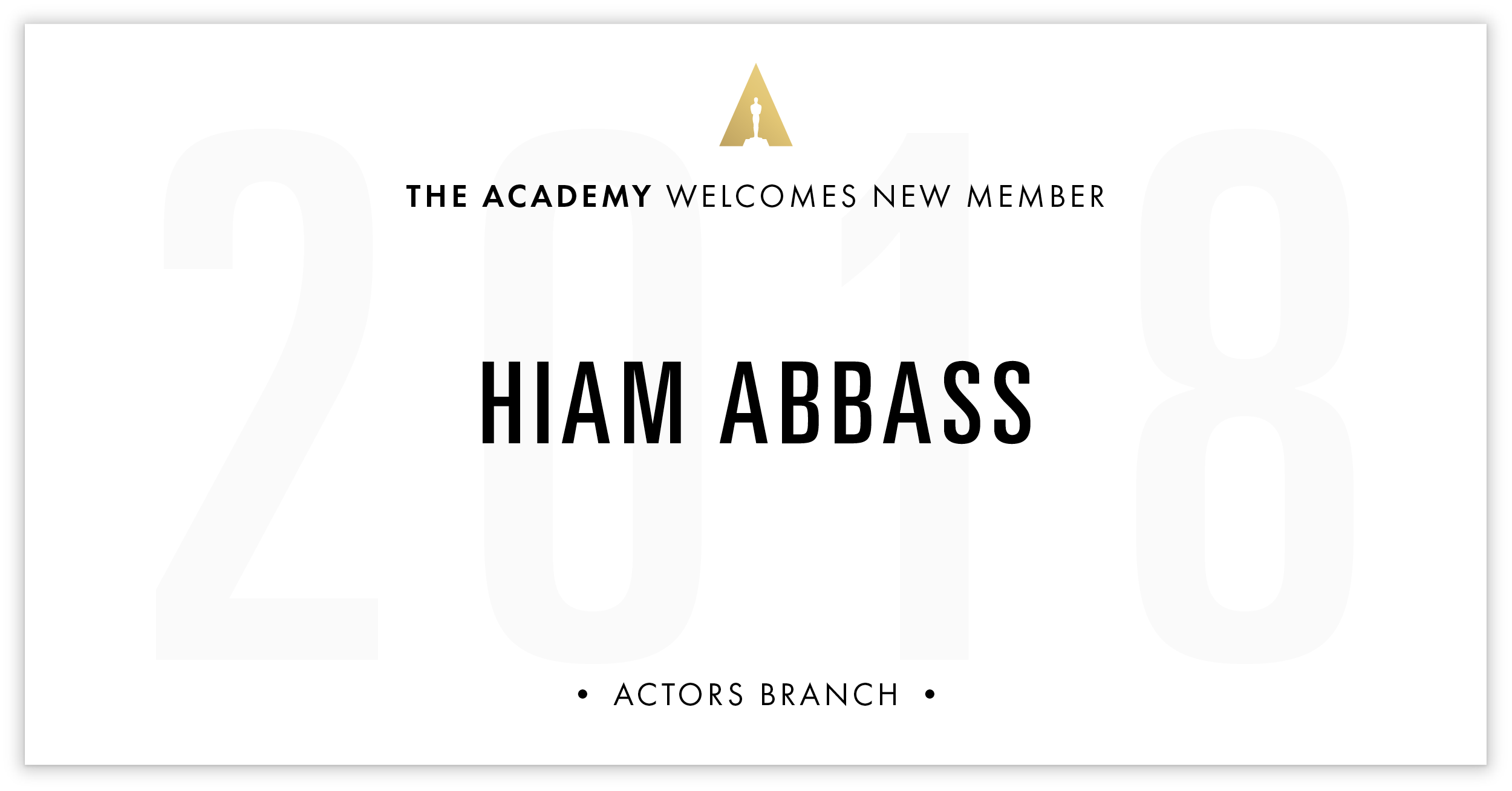 Hiam Abbass is invited!