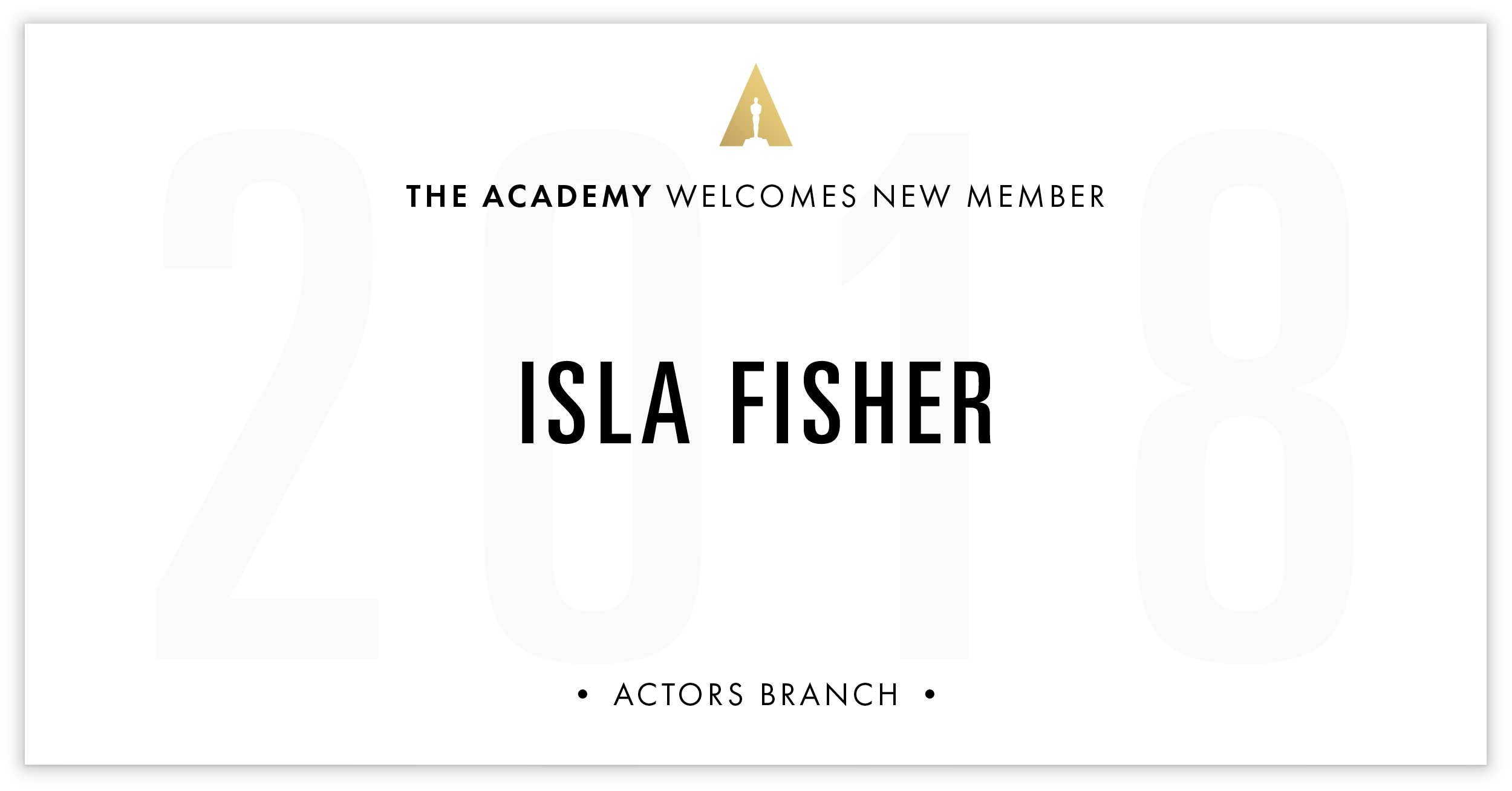 Isla Fisher is invited!