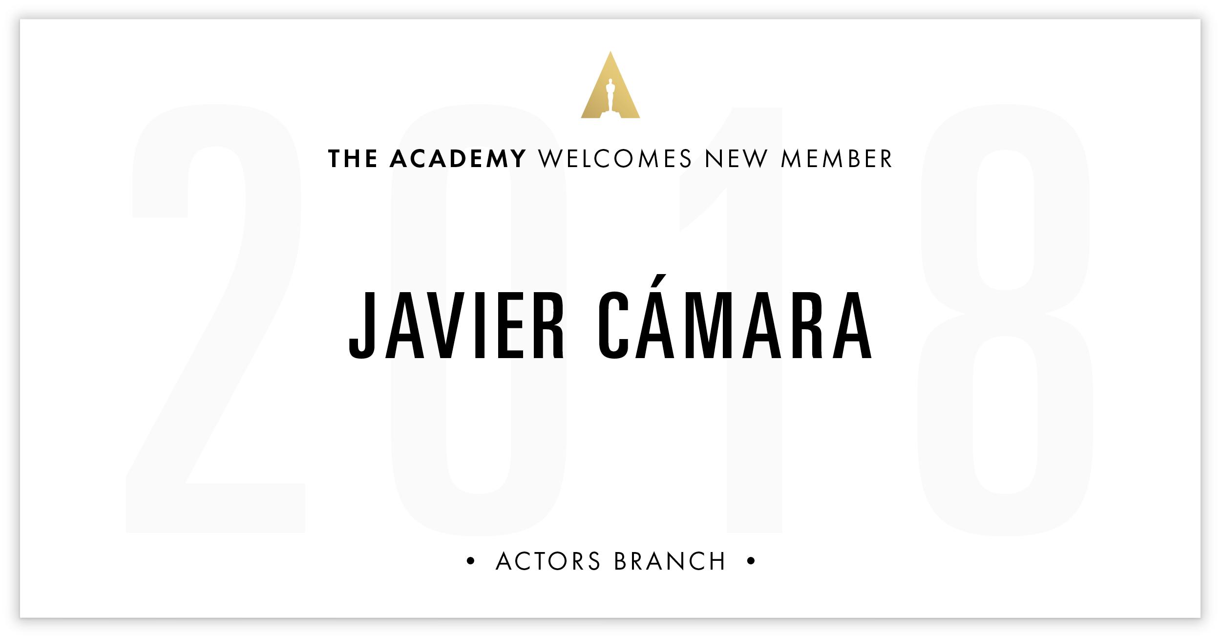 Javier Cámara is invited!
