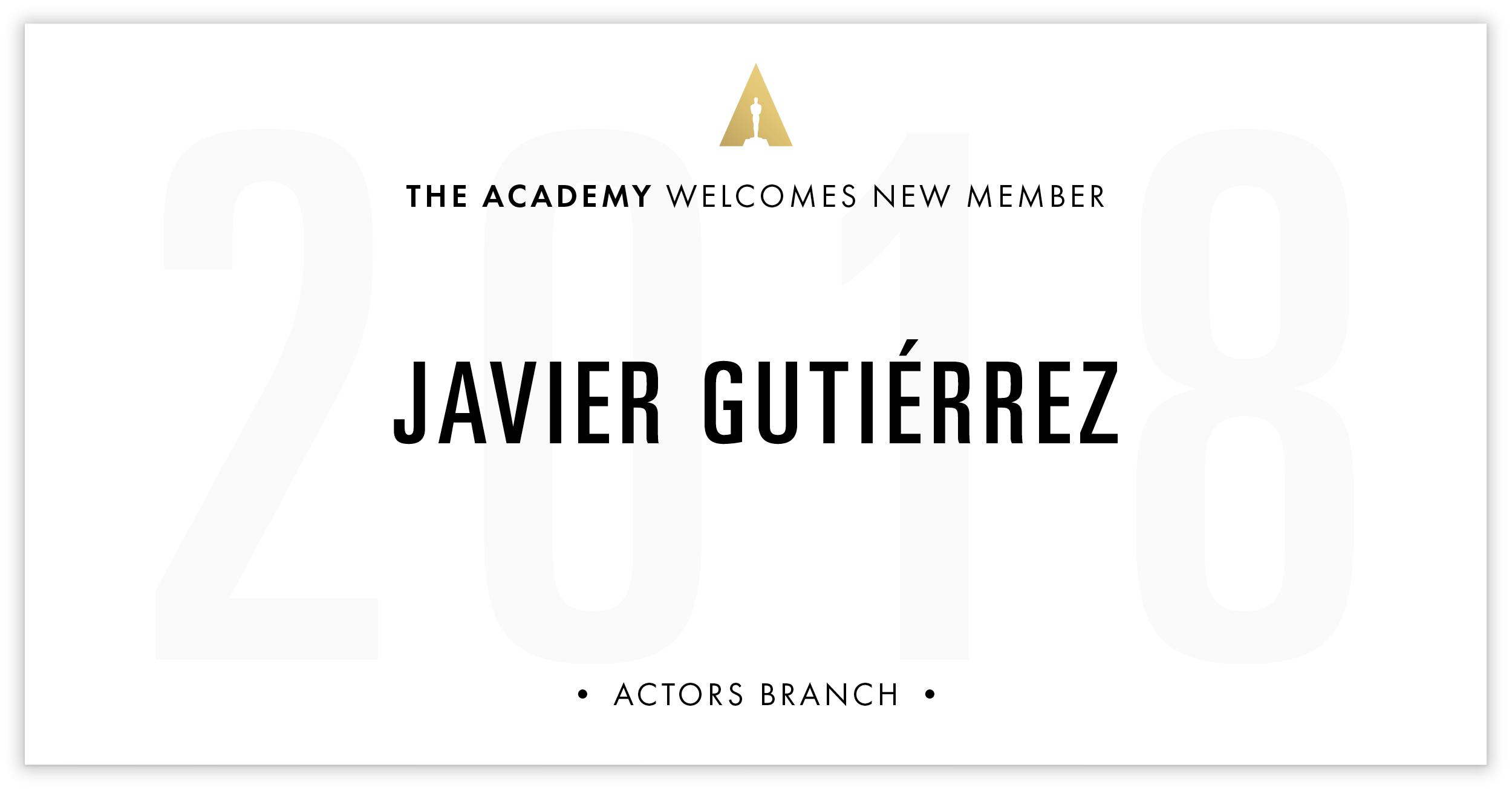 Javier Gutiérrez is invited!