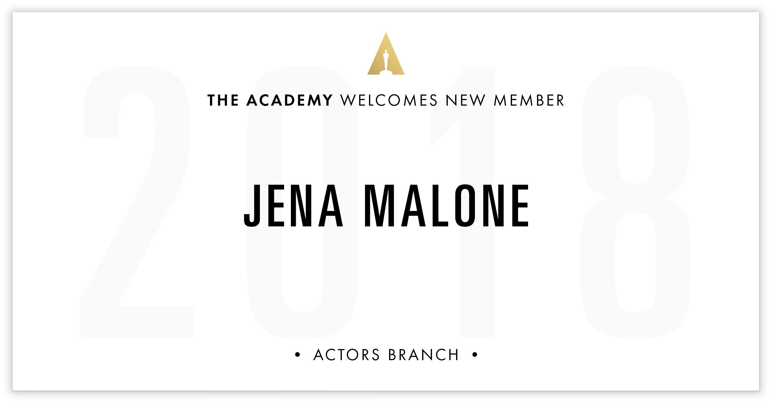 Jena Malone is invited!