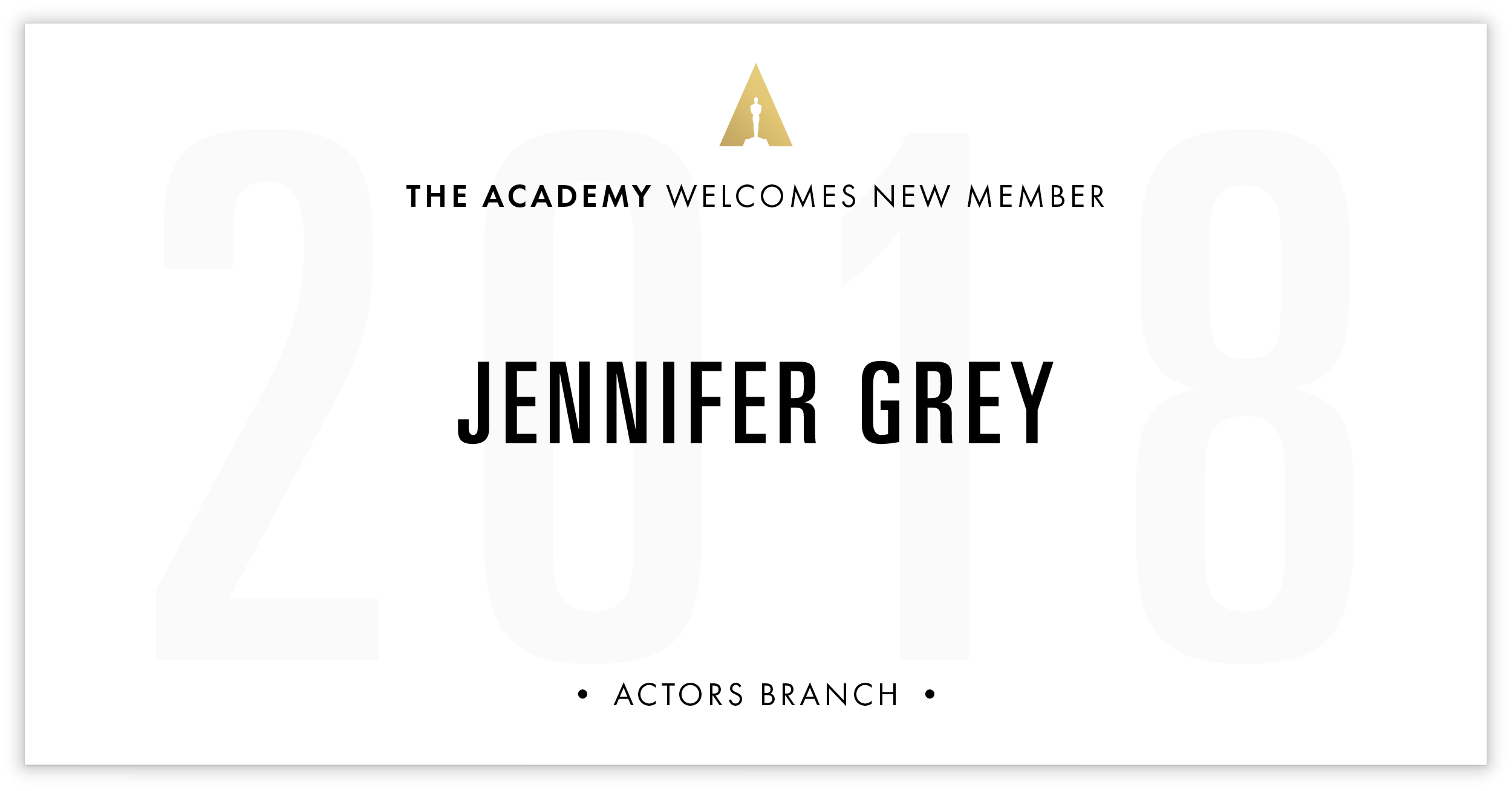 Jennifer Grey is invited!