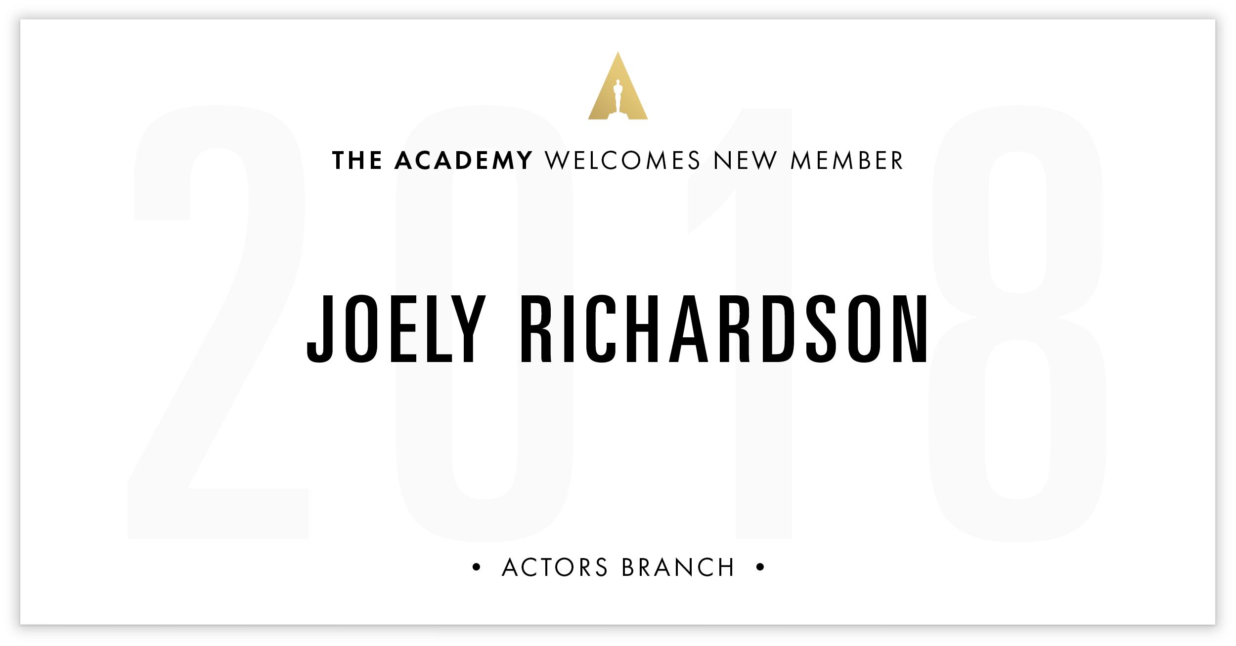 Joely Richardson is invited!