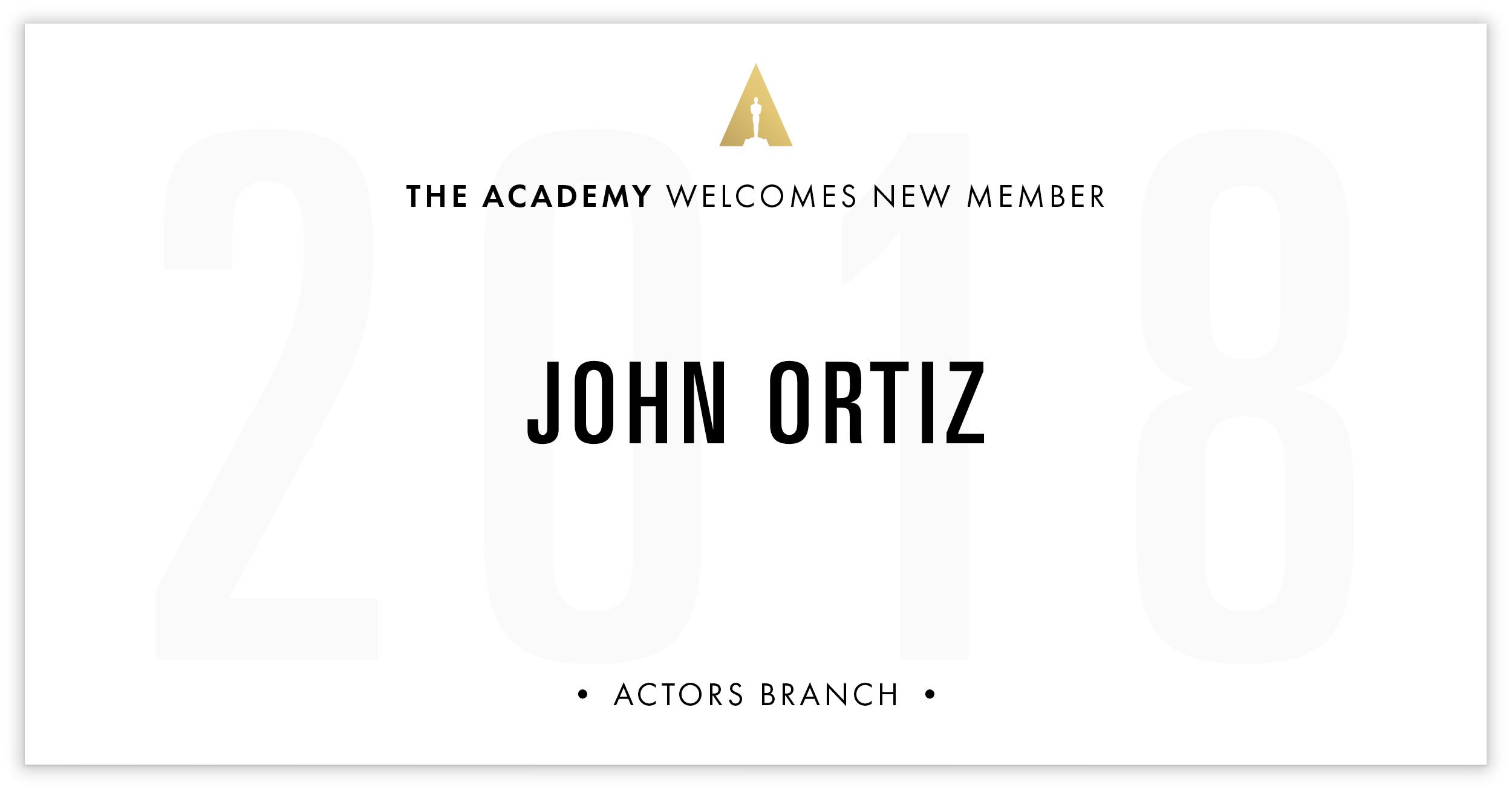John Ortiz is invited!
