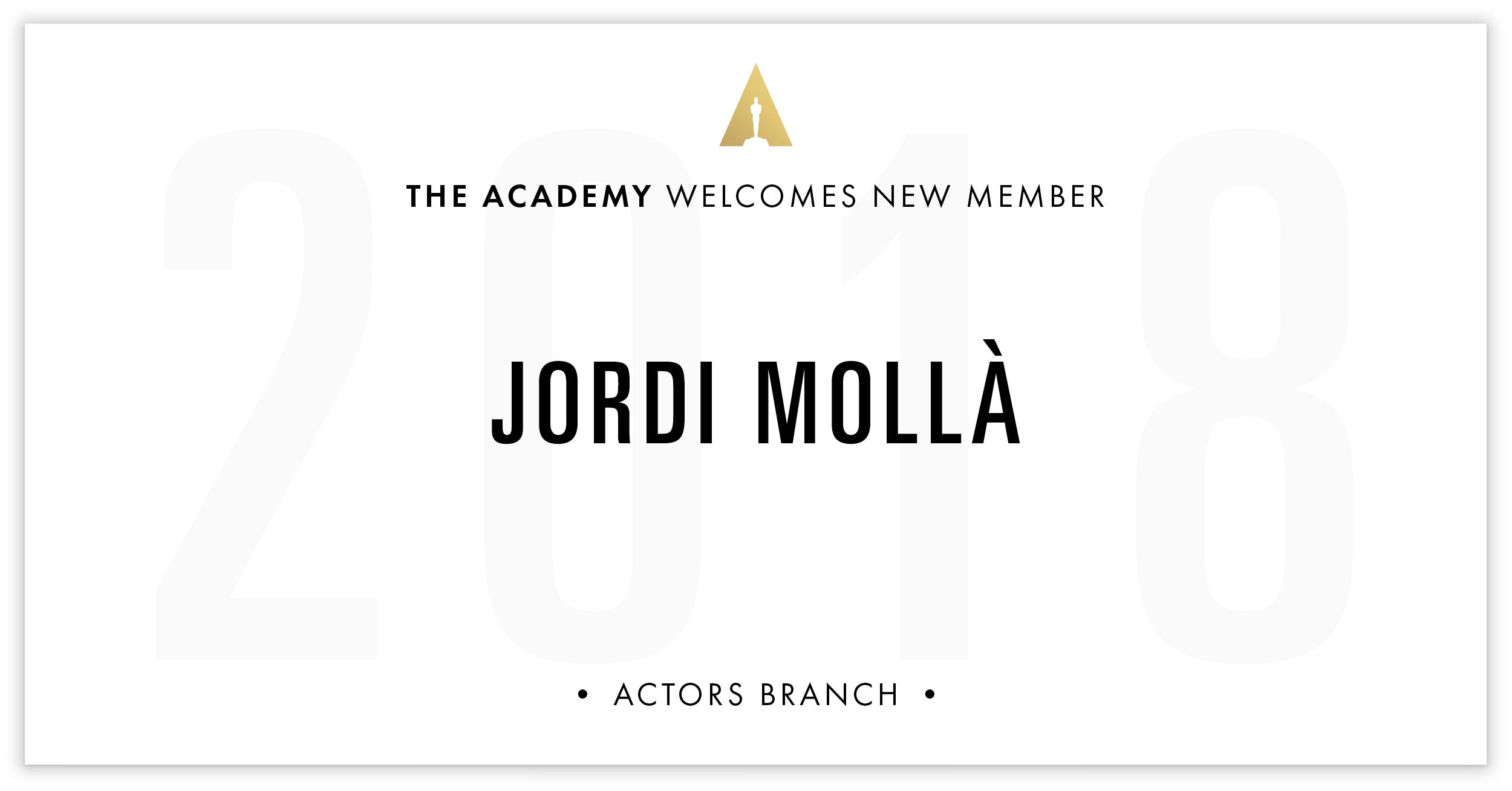 Jordi Mollà is invited!