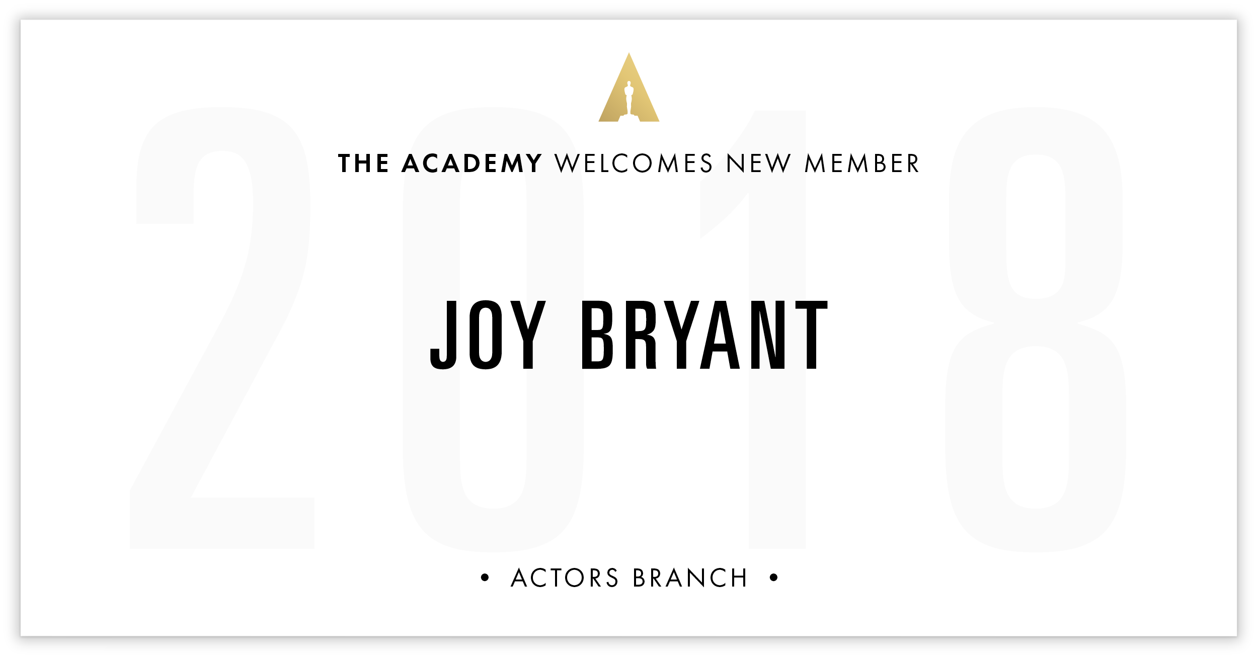 Joy Bryant is invited!