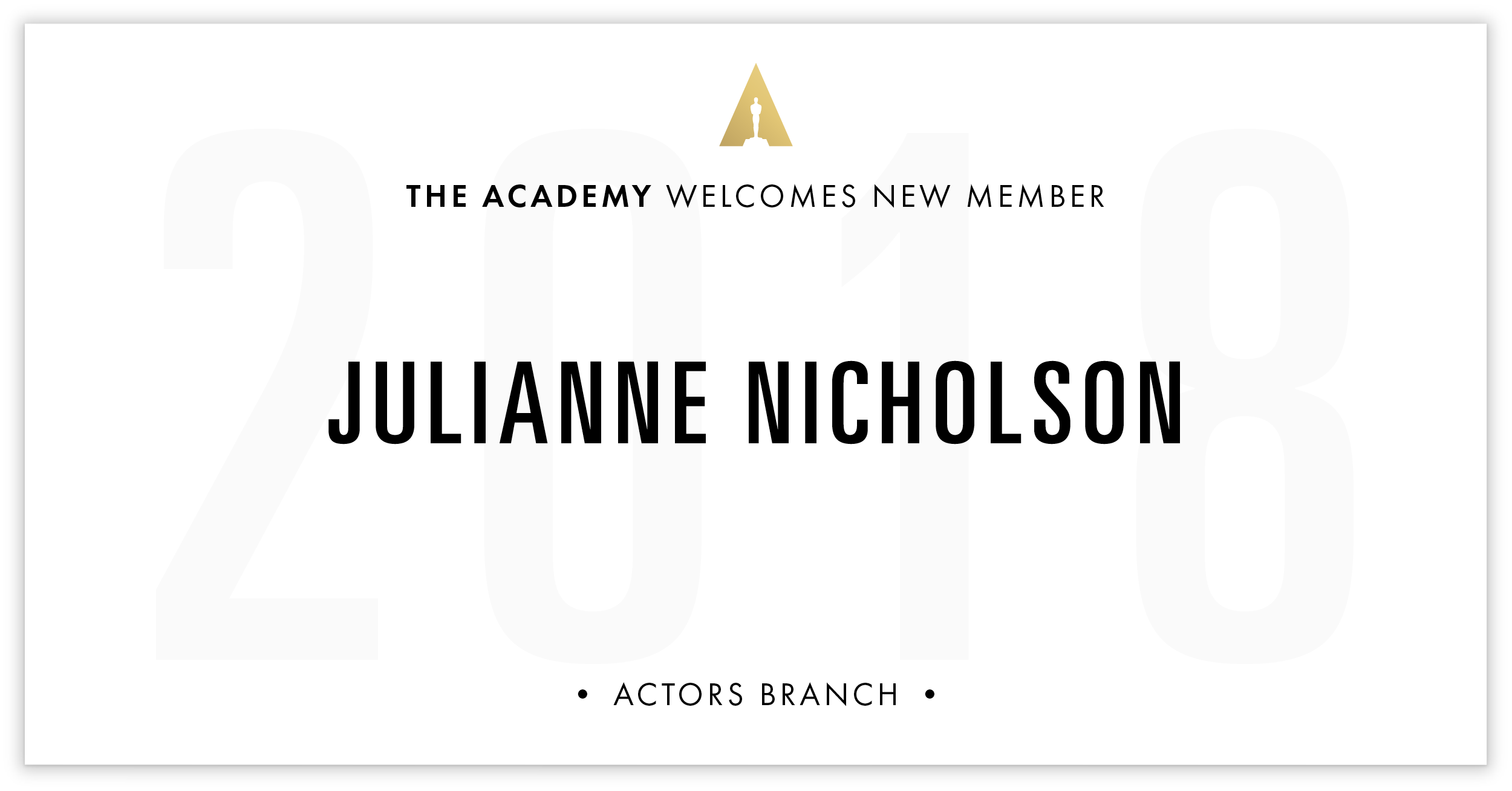 Julianne Nicholson is invited!