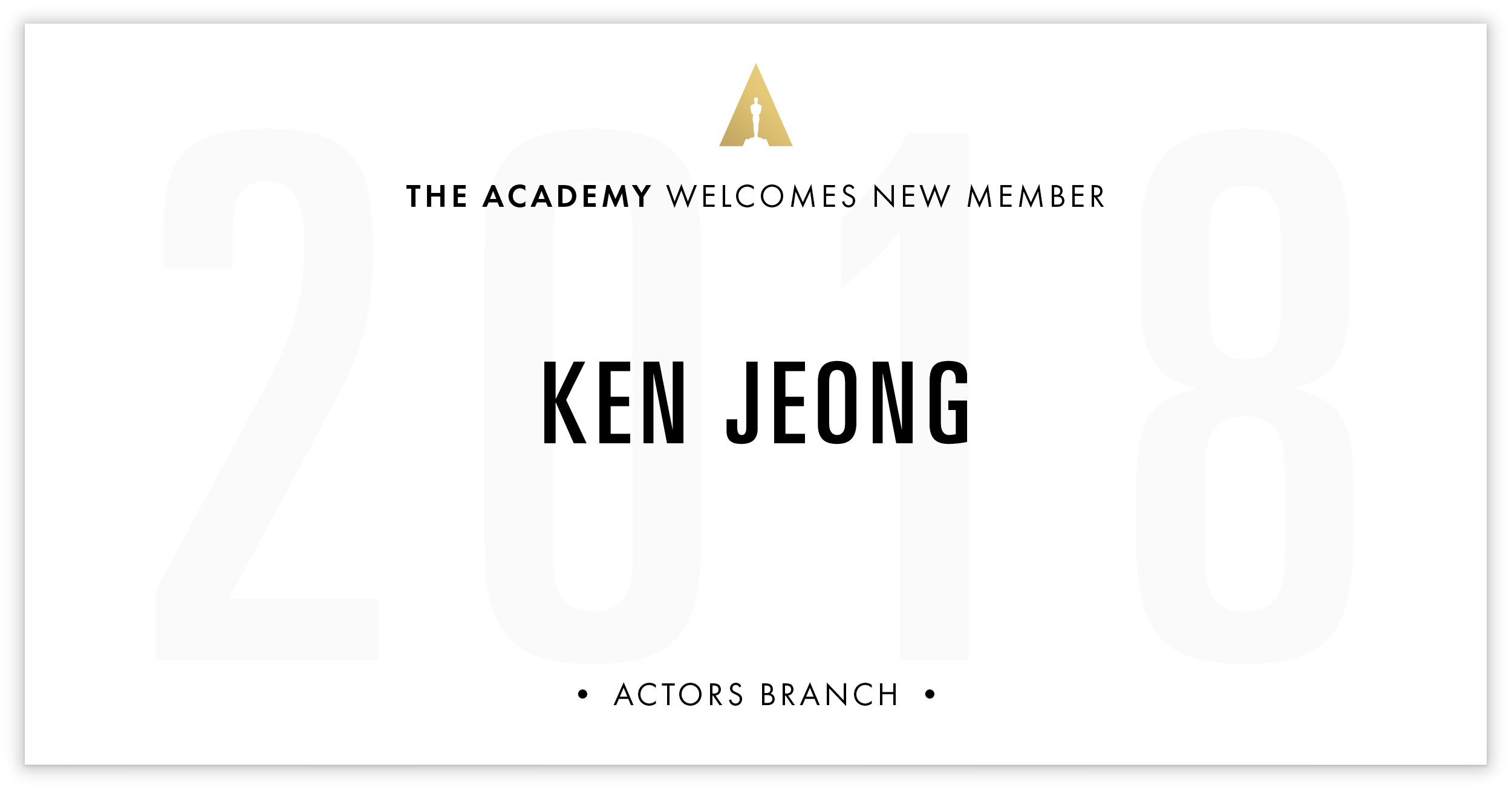 Ken Jeong is invited!