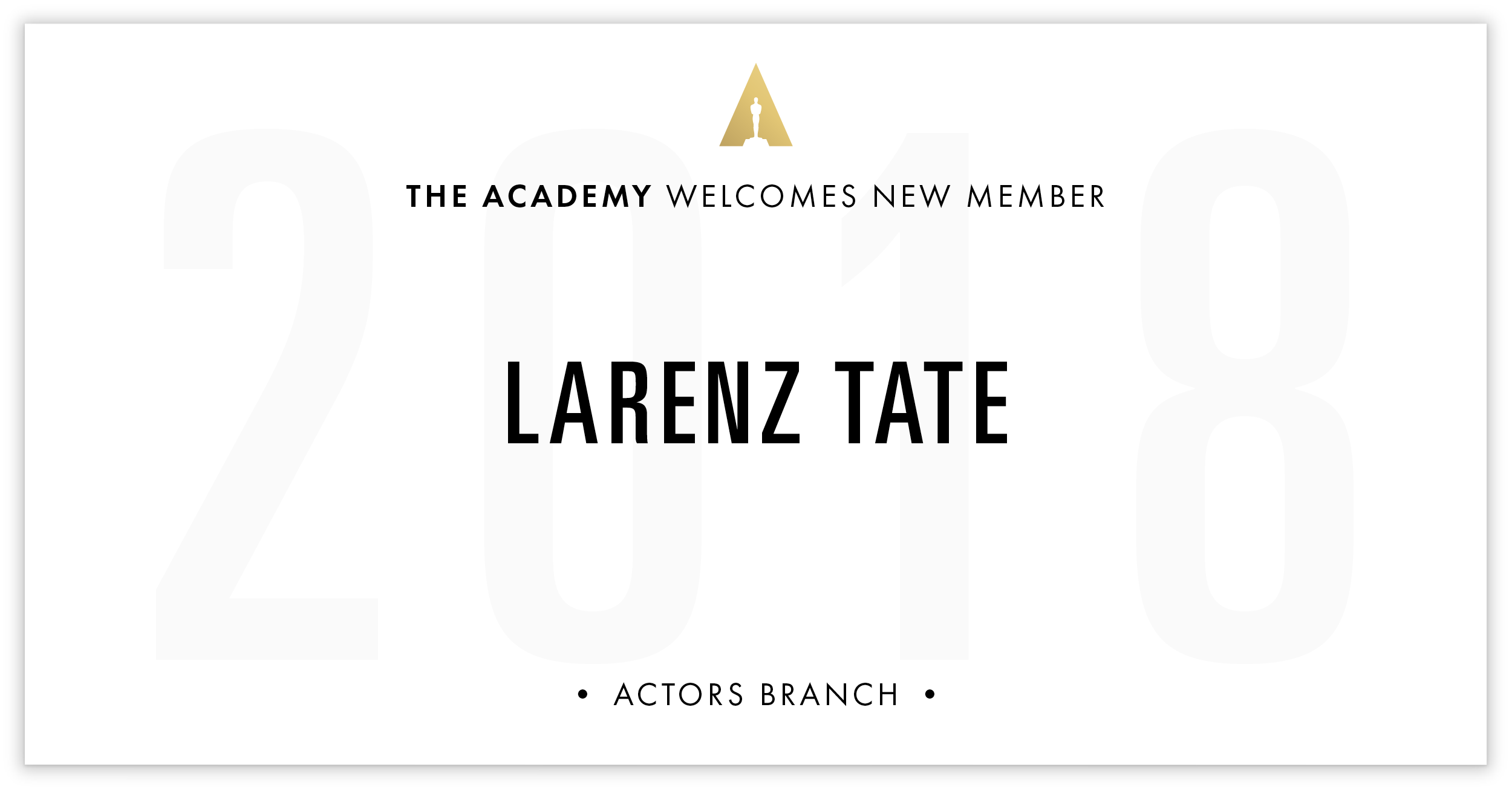 Larenz Tate is invited!