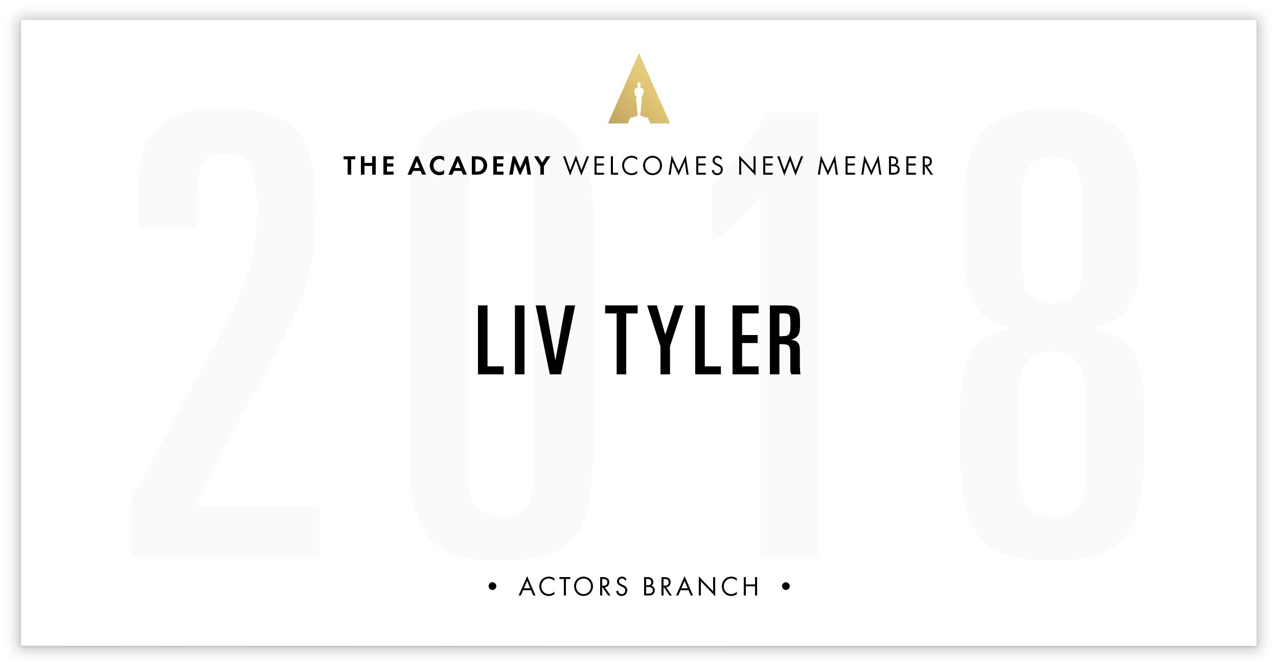 Liv Tyler is invited!
