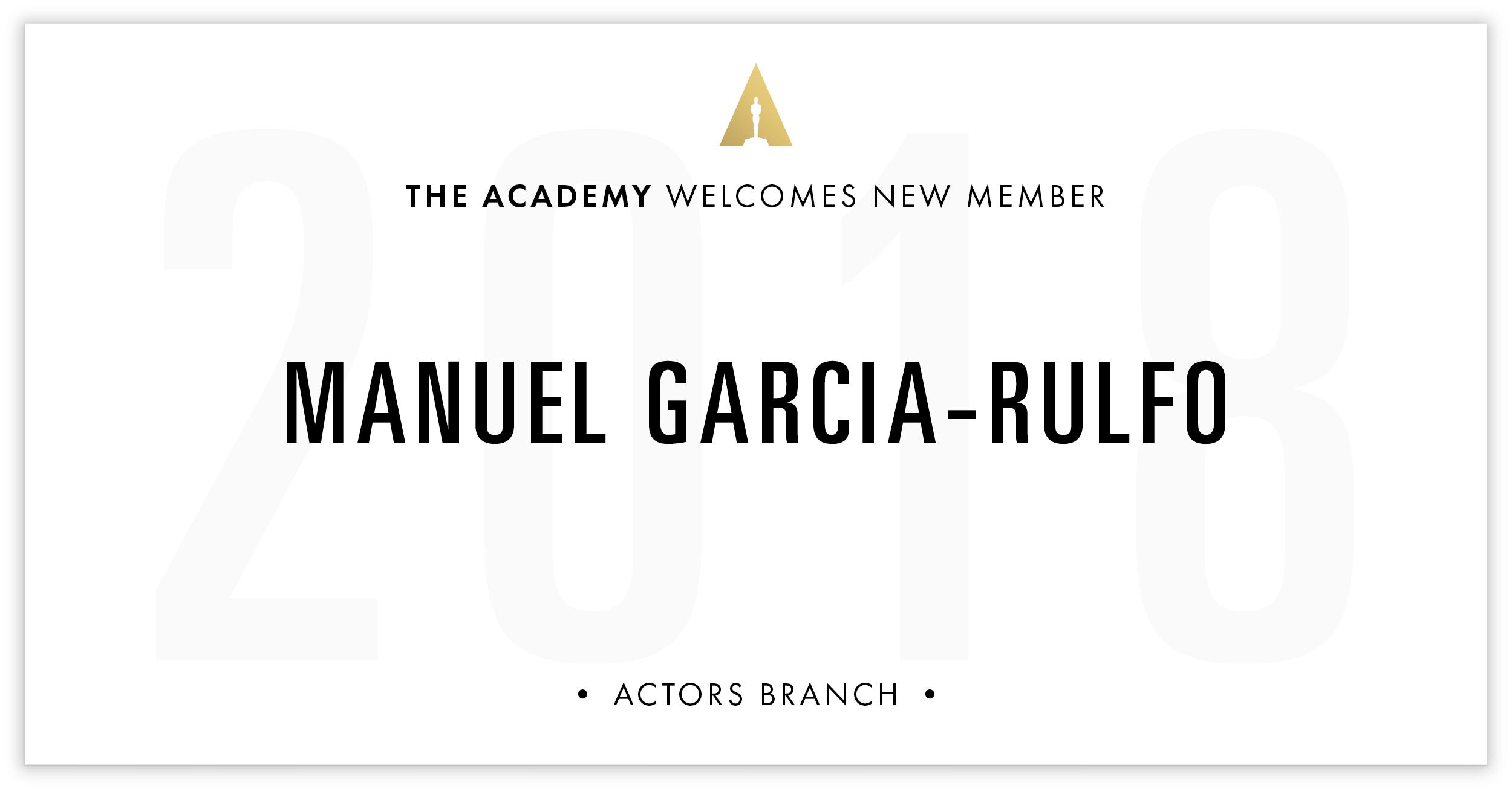 Manuel Garcia-Rulfo is invited!