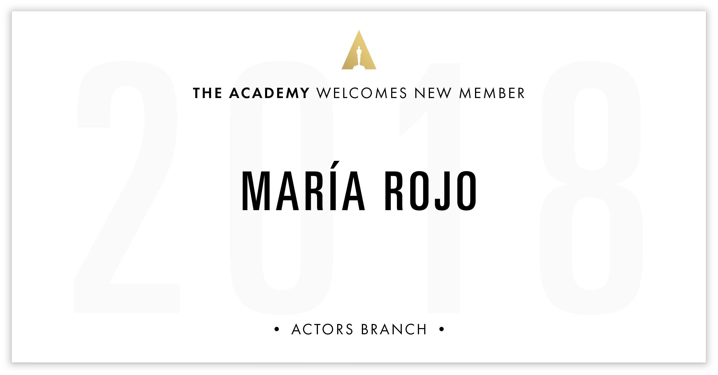 María Rojo is invited!