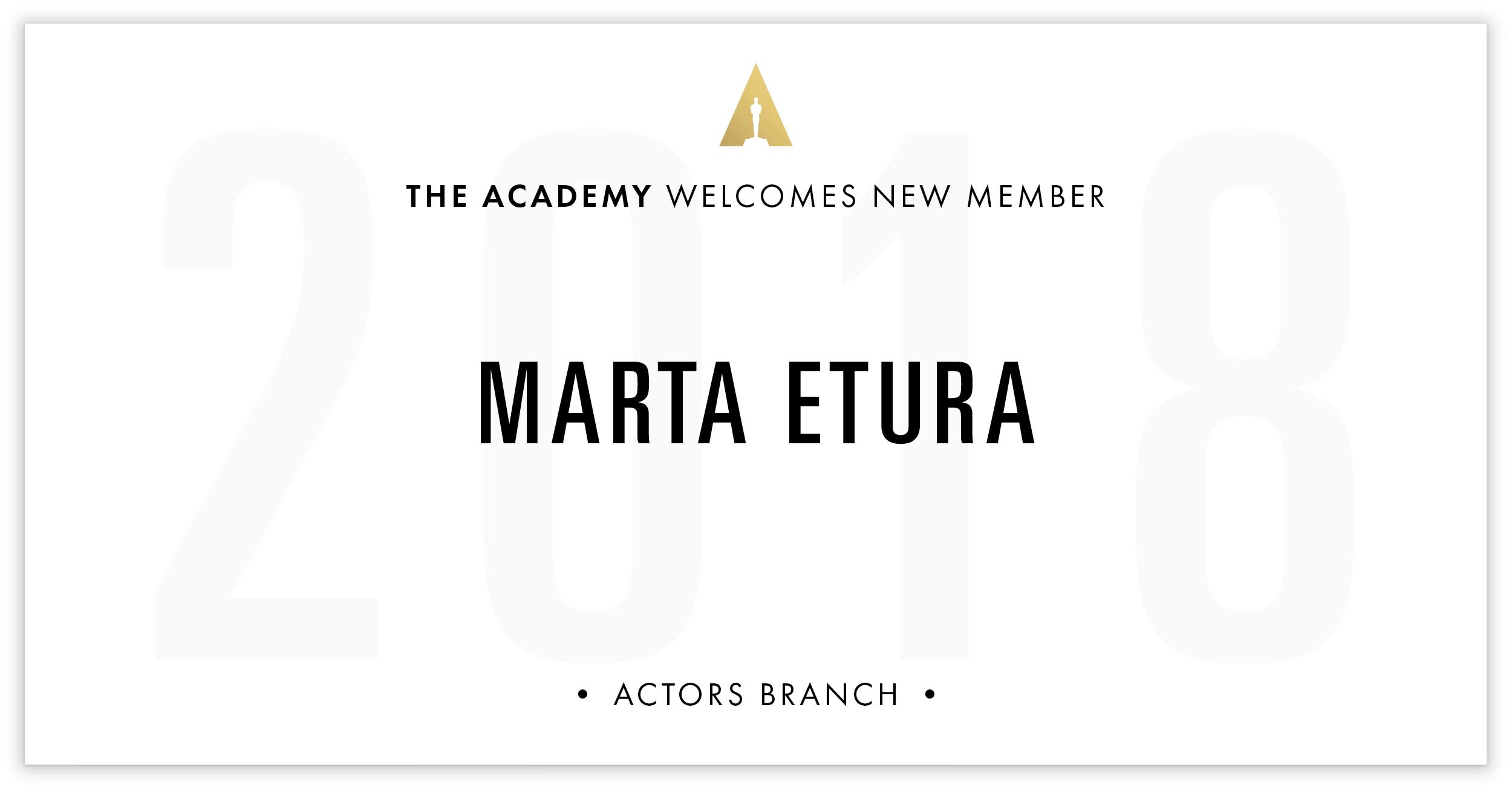 Marta Etura is invited!